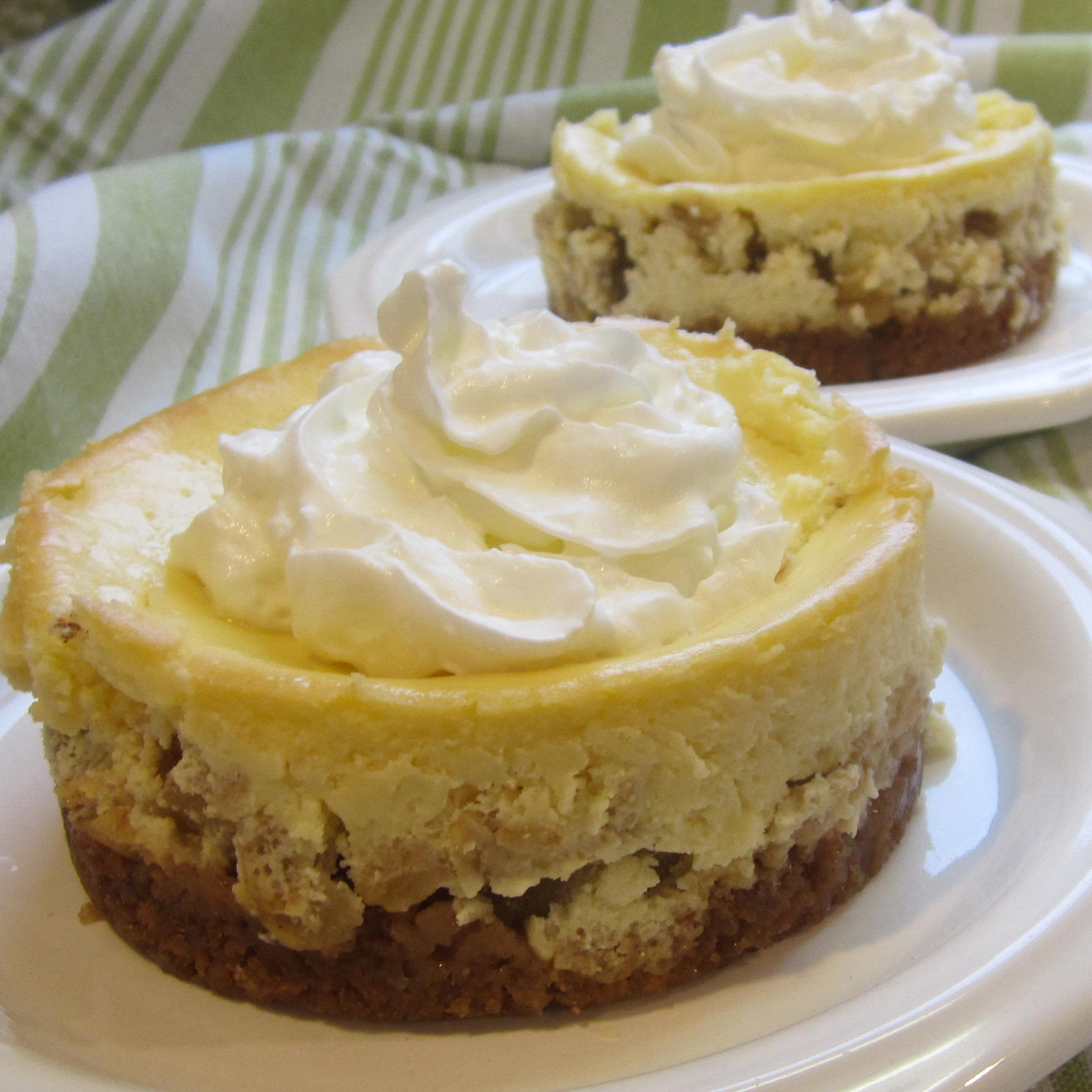 Apple Crisp Cheesecake Deb C
