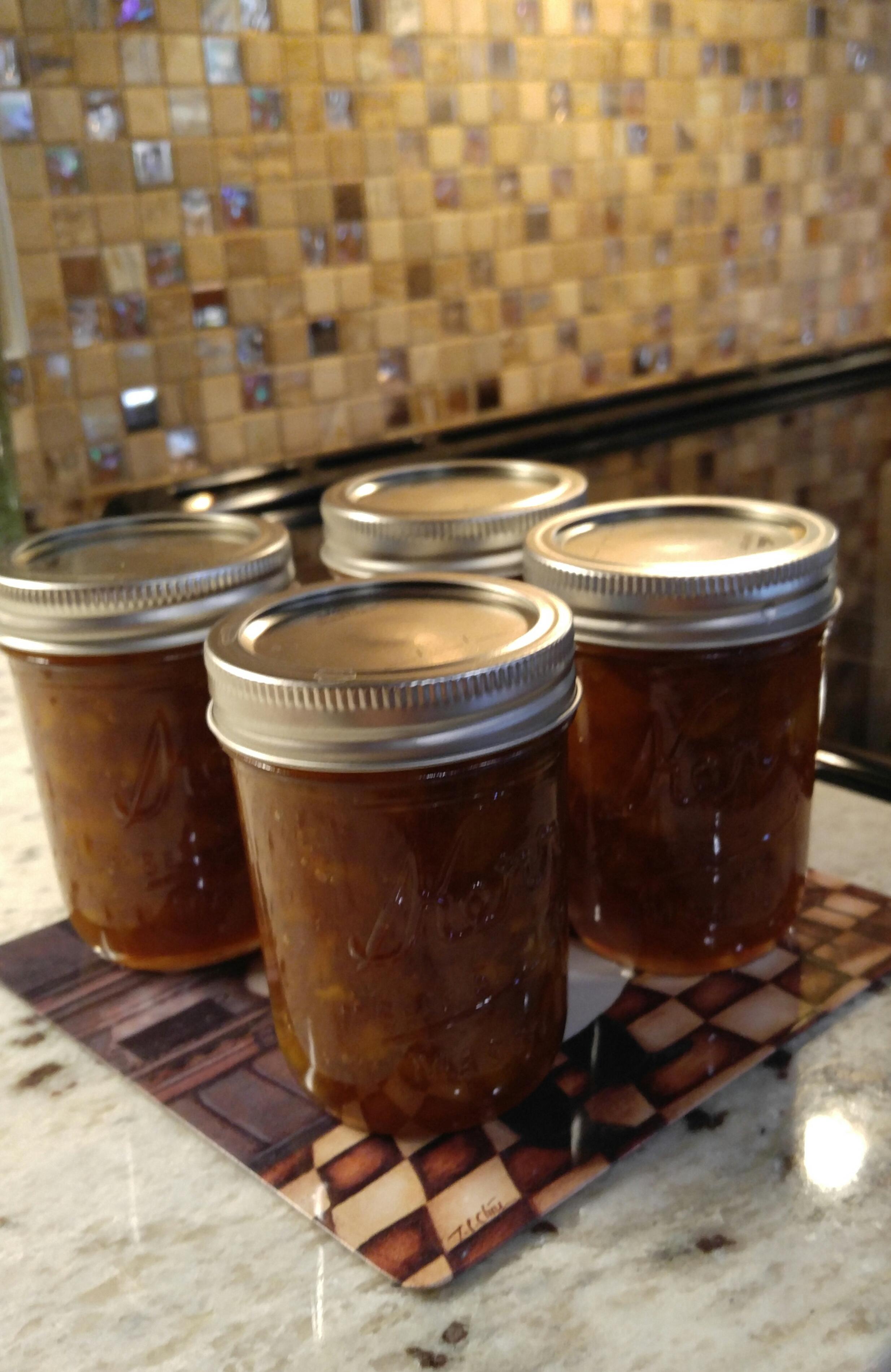 Fresh Spiced Peach Jam A. American Woman