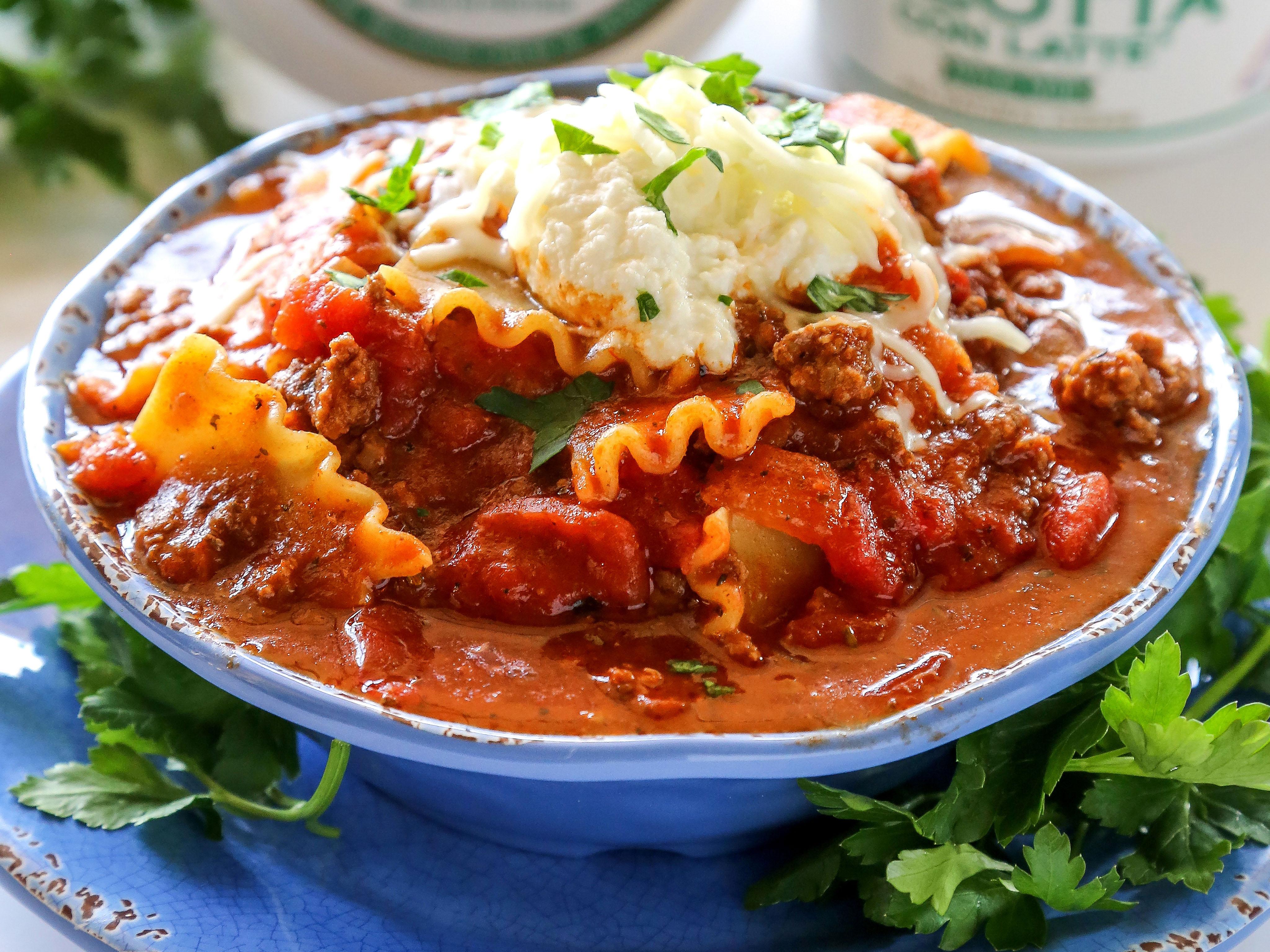 Lasagna Noodle Soup