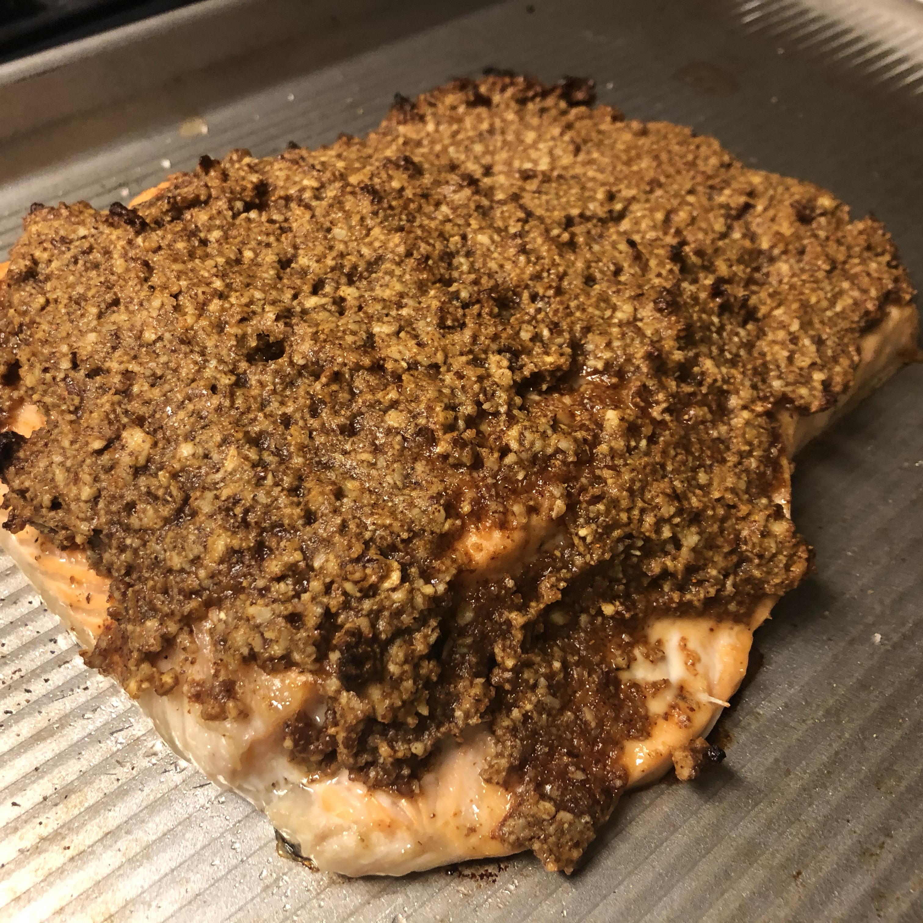 Paleo Pecan-Maple Salmon