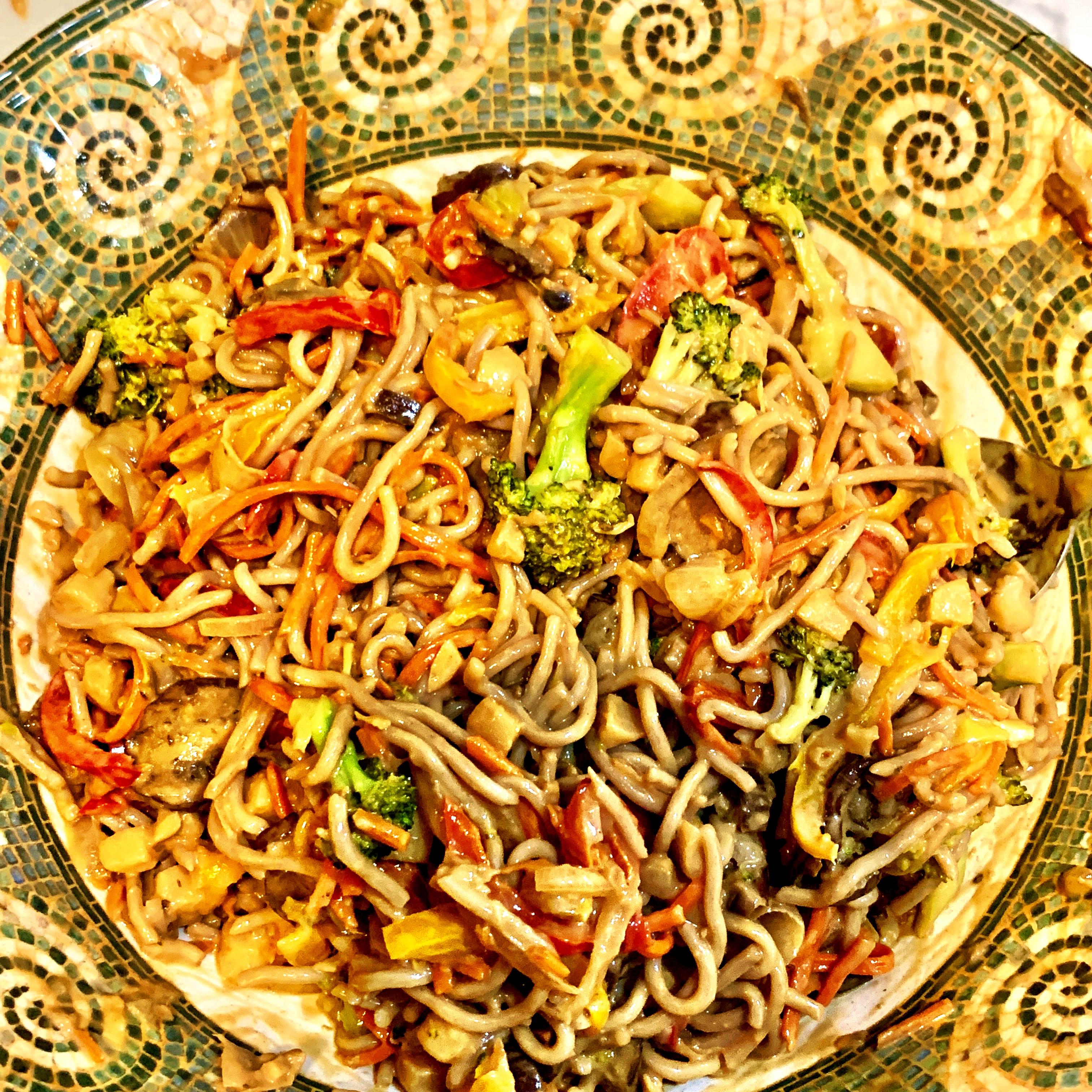 Amazing Peanut Soba Noodles