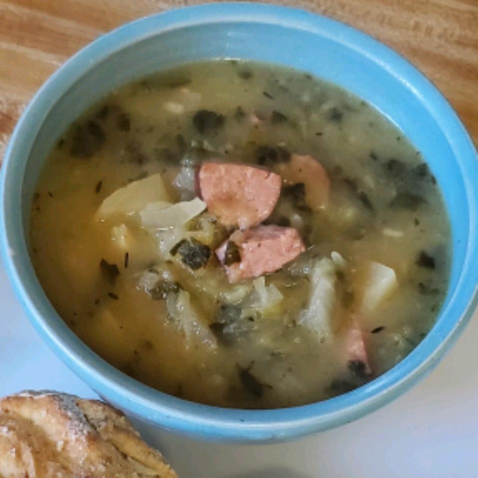 Spaghetti Squash and Polish Sausage Slow Cooker Soup Melanie Bittner