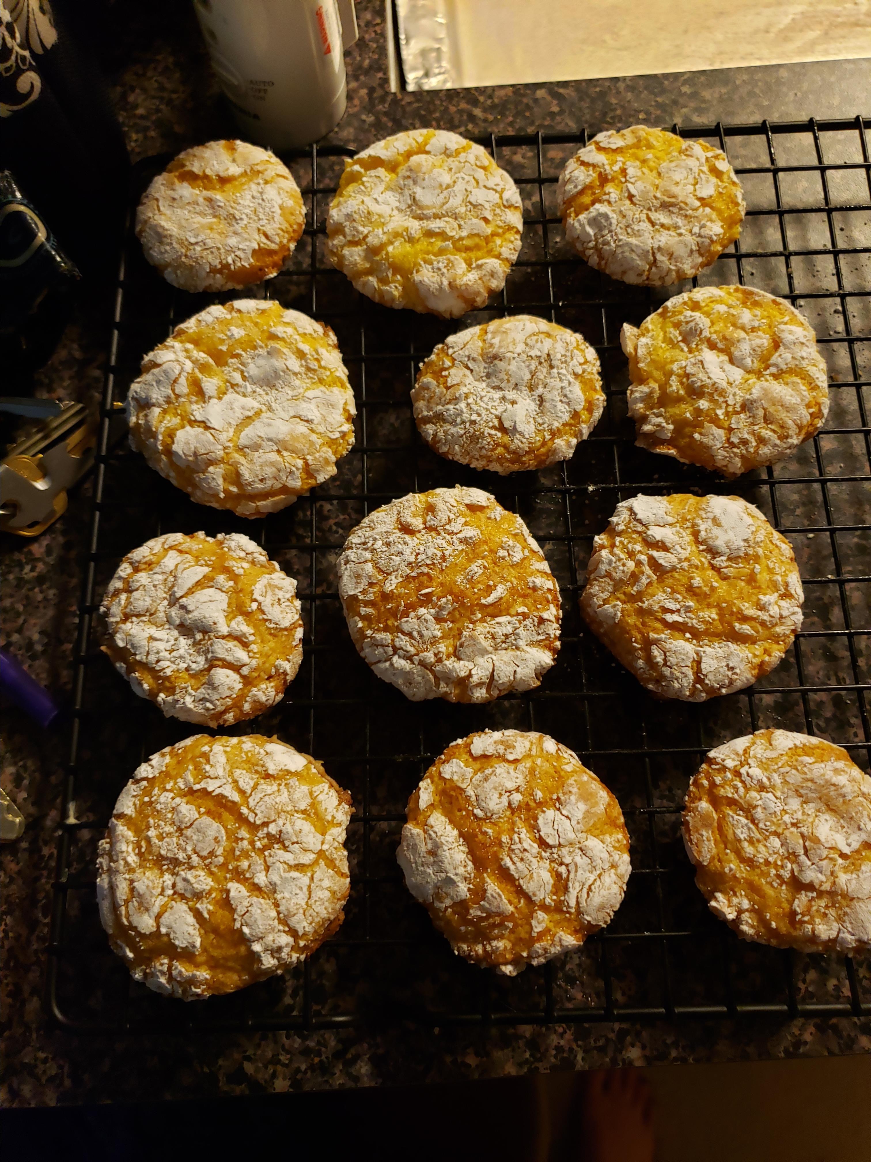 Lemon Snowflake Cookies