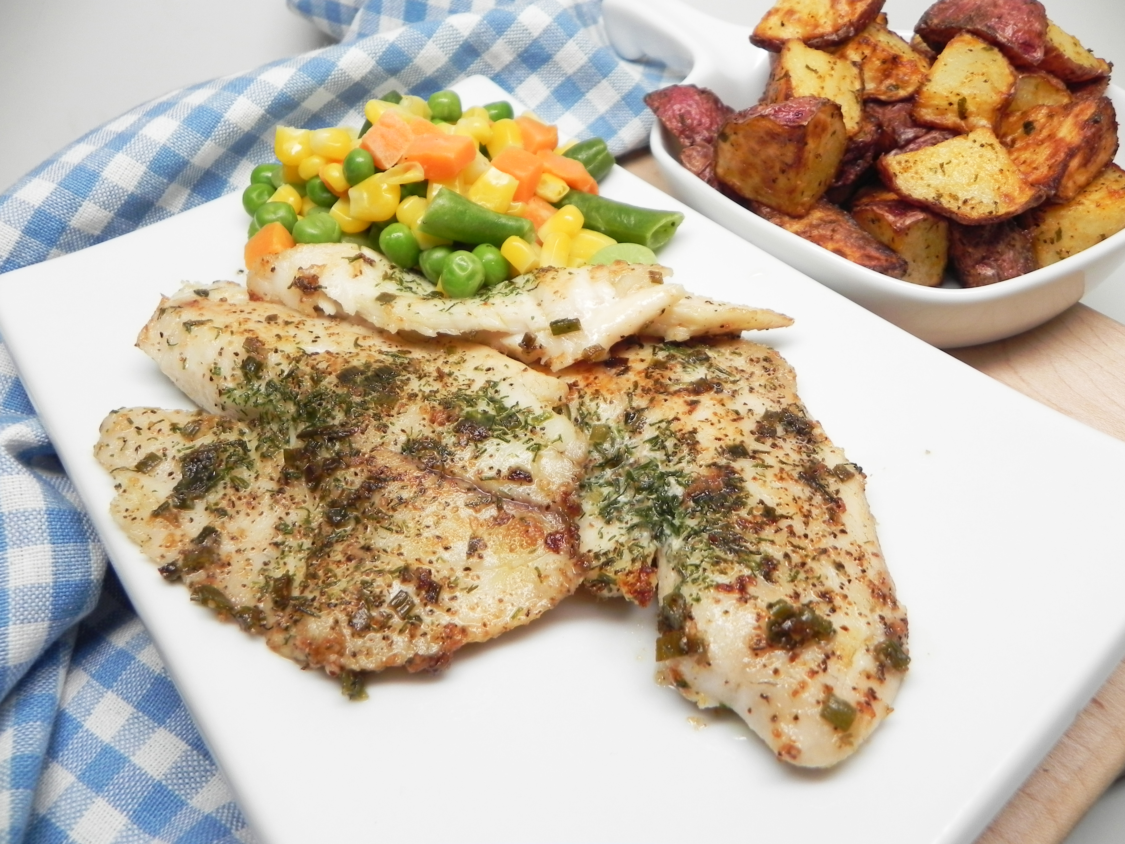 Grilled Herbed Tilapia in Foil Packets