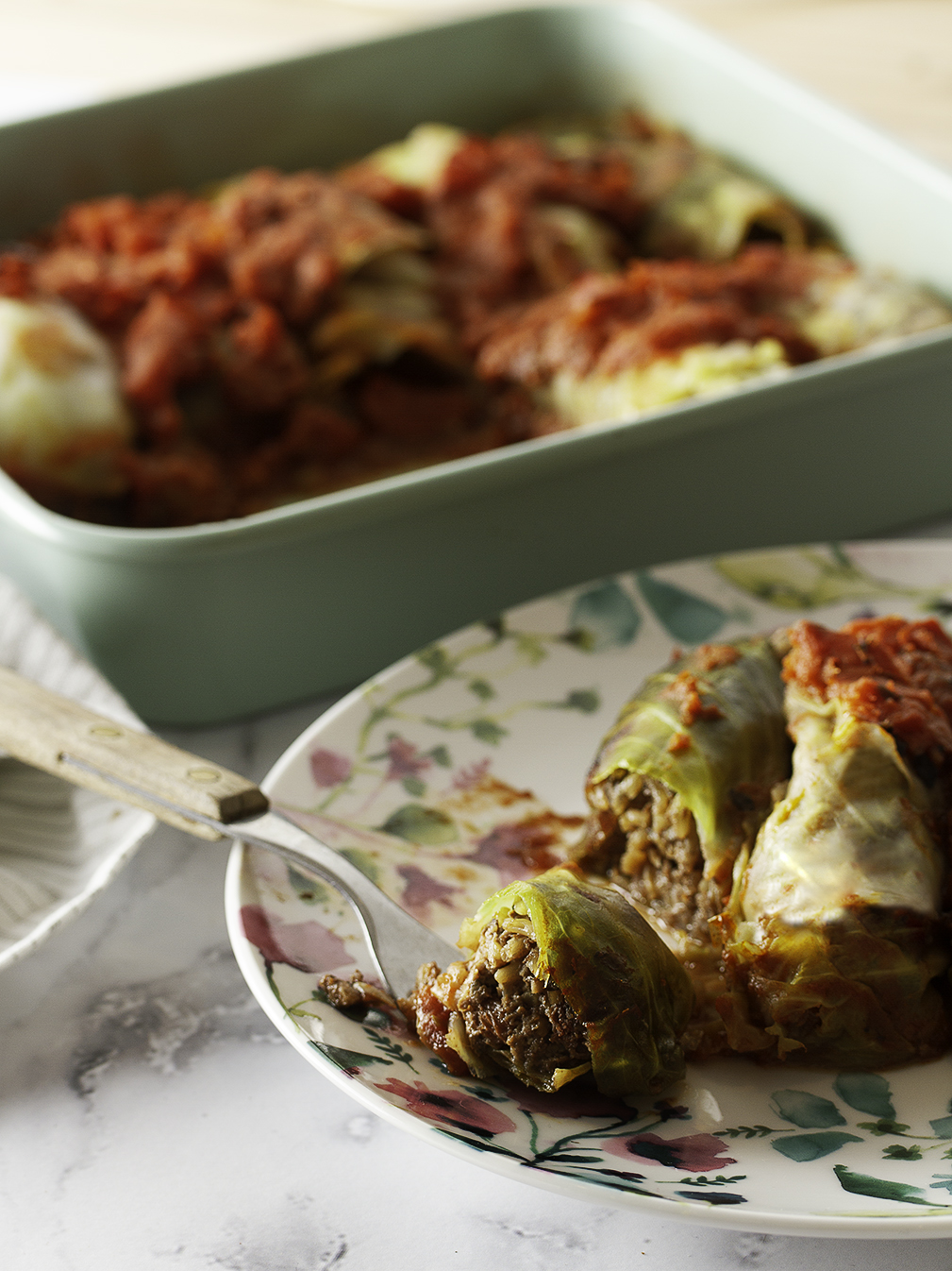 Vegan Mushroom-Stuffed Cabbage Rolls Happy as a Yam