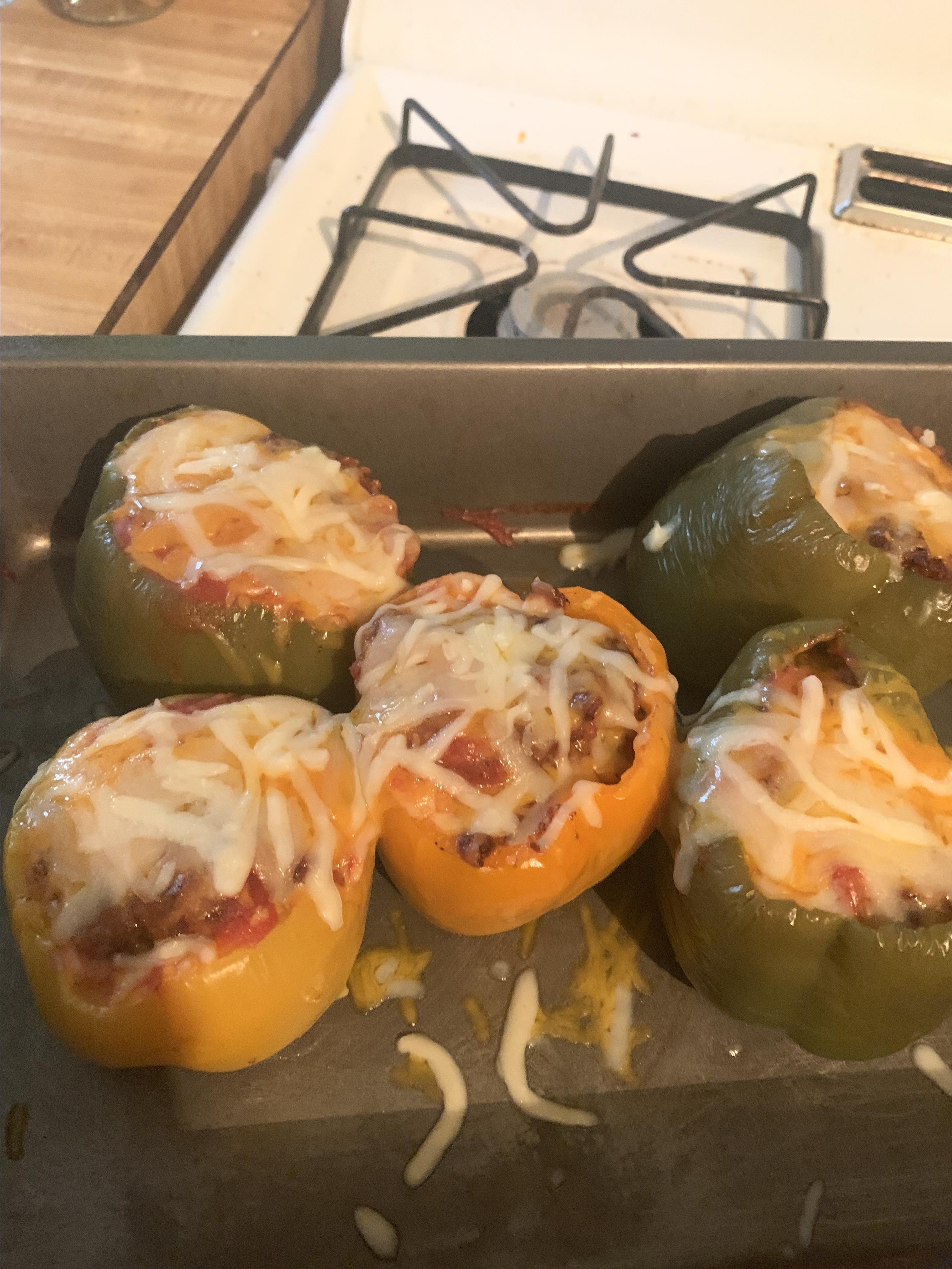 Chorizo Stuffed Bell Peppers