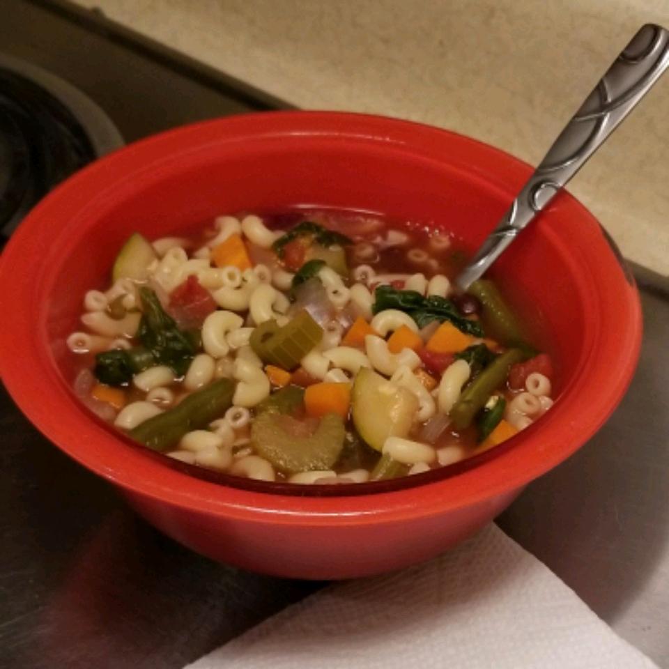 Slow Cooker Vegetarian Minestrone