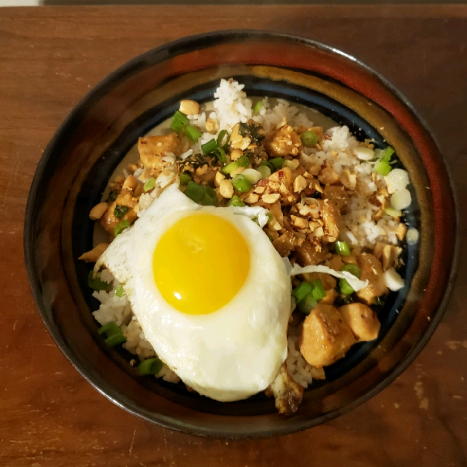 Easy and Spicy Thai Basil Chicken with Egg