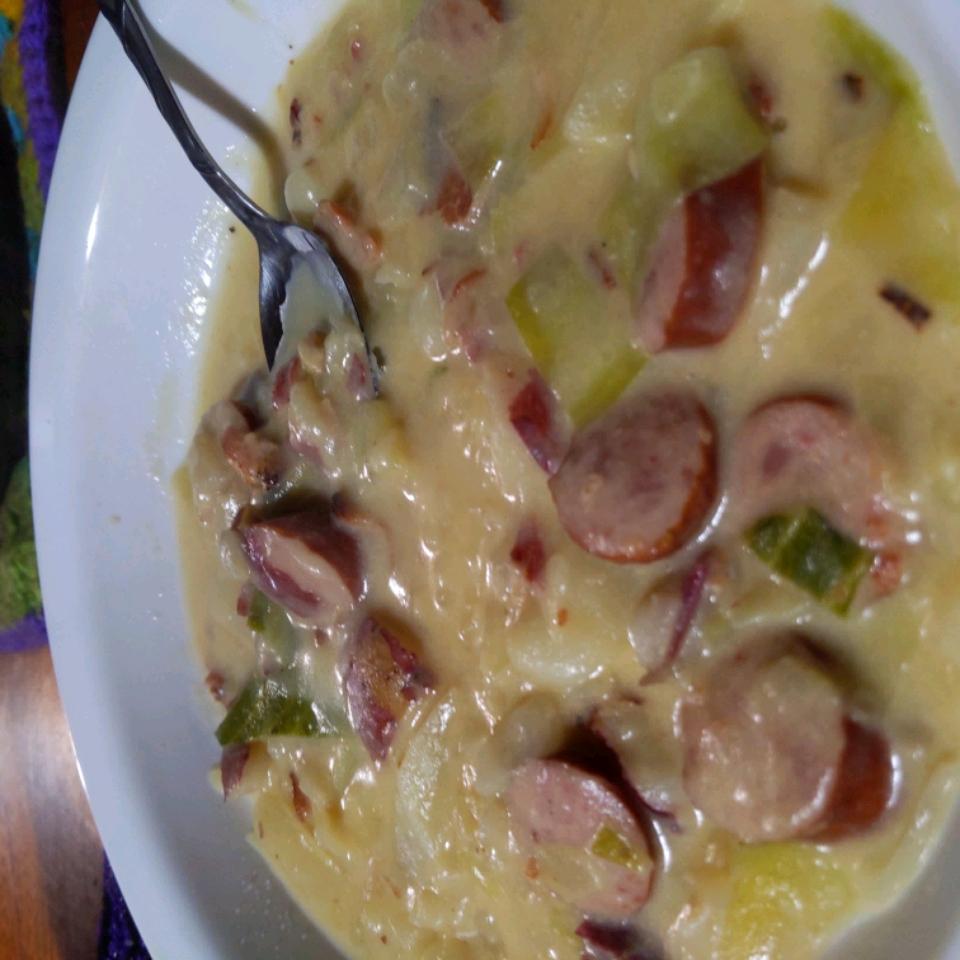 Bratwurst, Potato and Cabbage Soup Stefanie Pooley