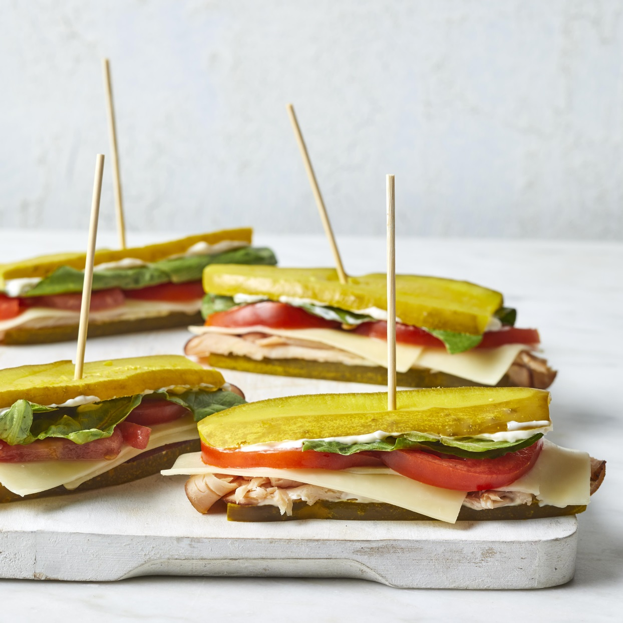 Pickle Sub Sandwiches with Turkey & Cheddar Trusted Brands