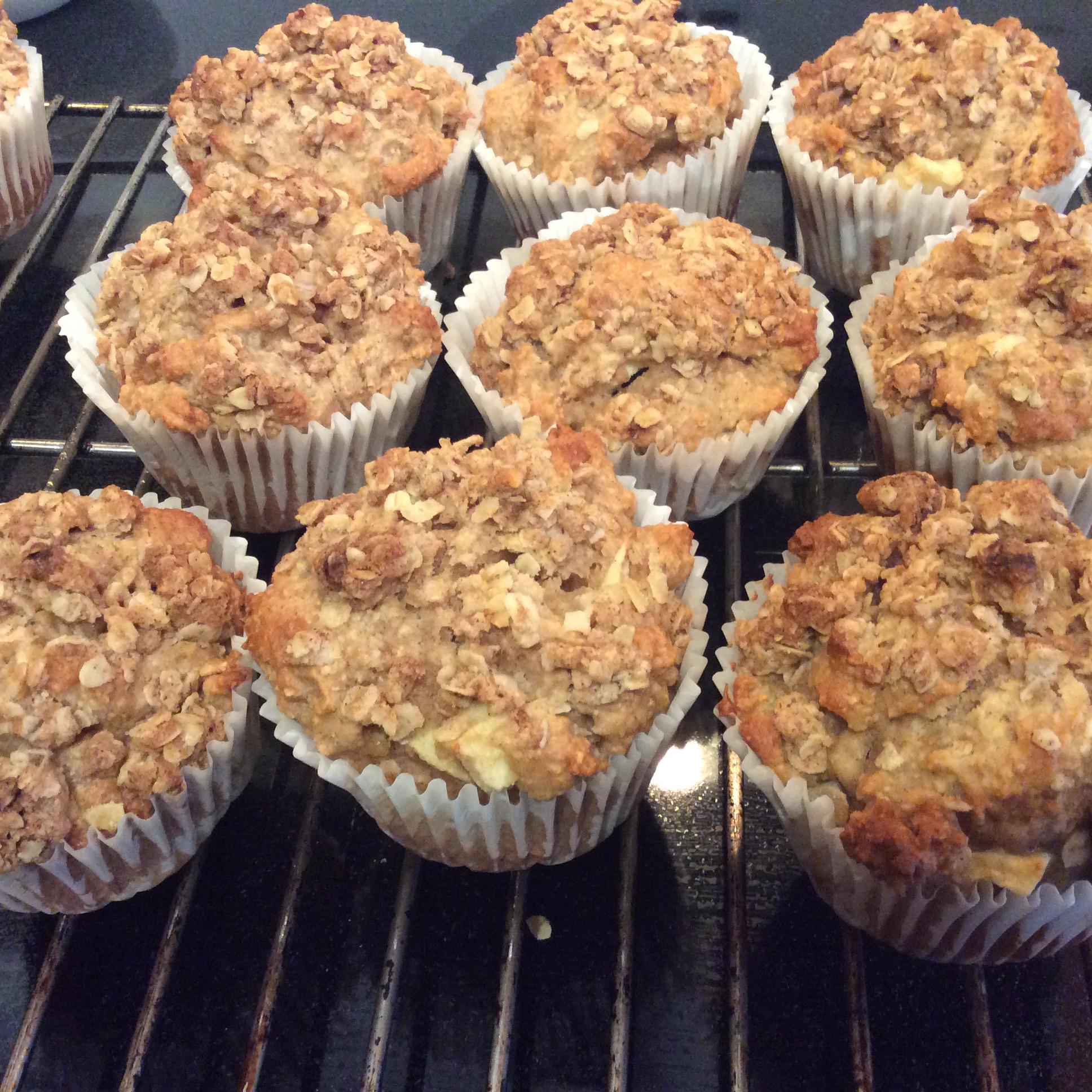 Apple Cinnamon Oatmeal Muffins Paula McKellar