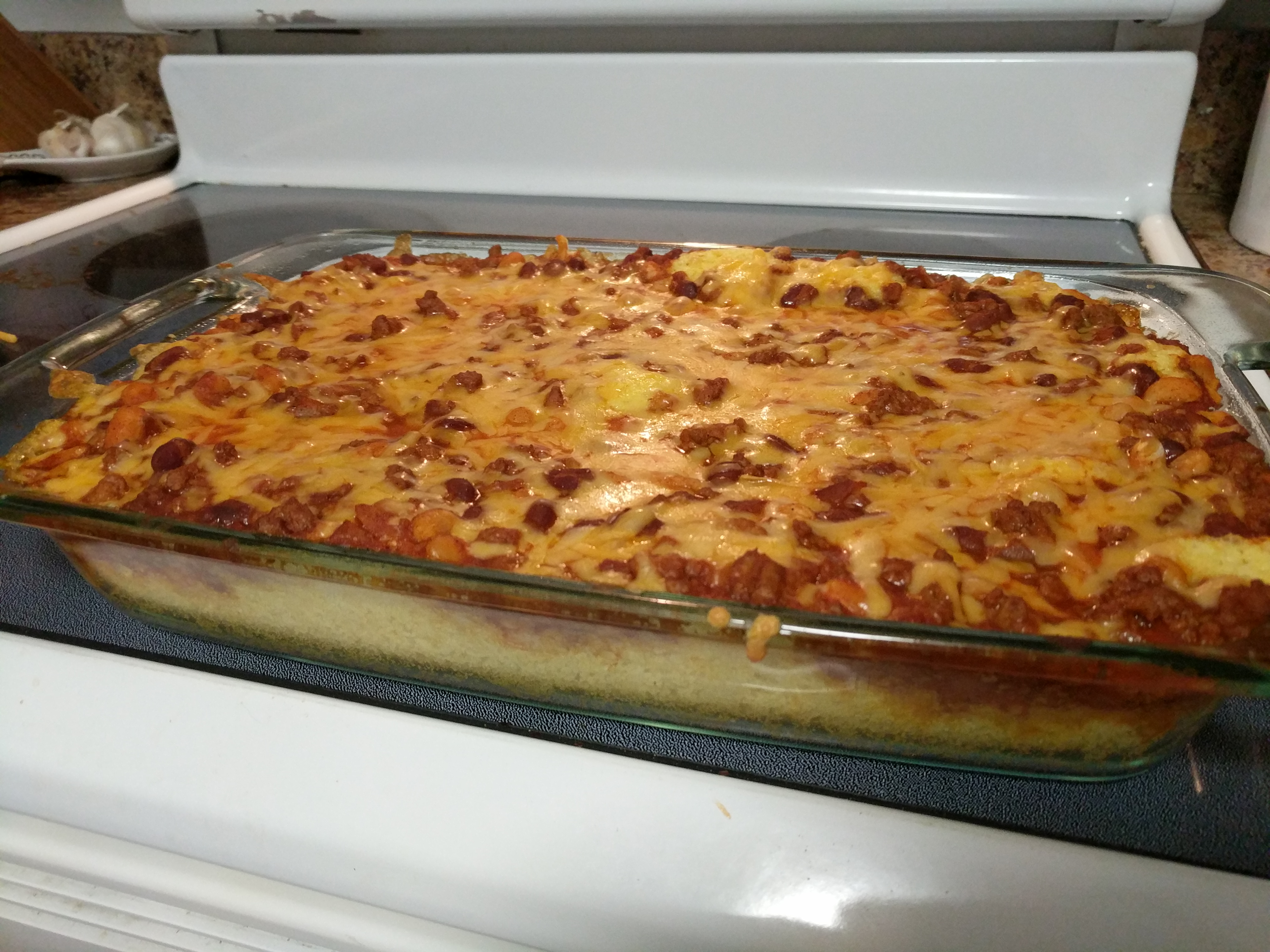 Easy Chili Cornbread Bake