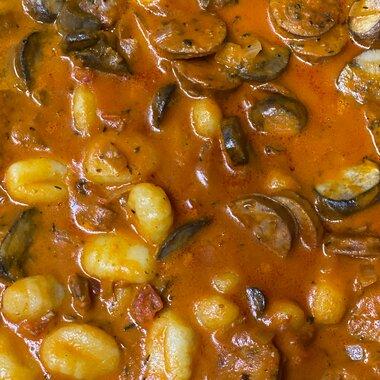 gnocchi with sausage and mushrooms recipe