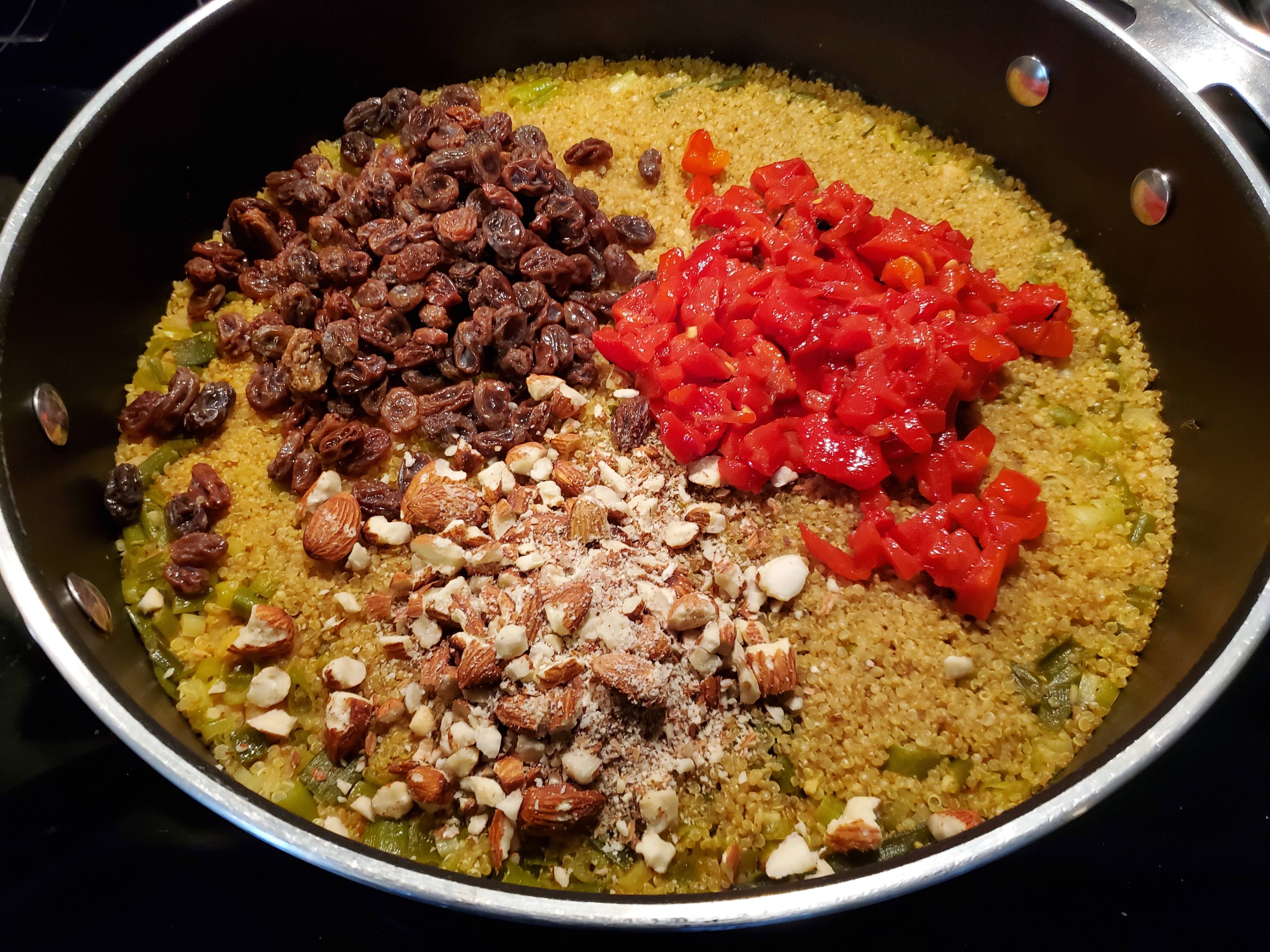 Pantry Curried Quinoa with Garbanzo Beans and Roasted Peppers Jacob Meier