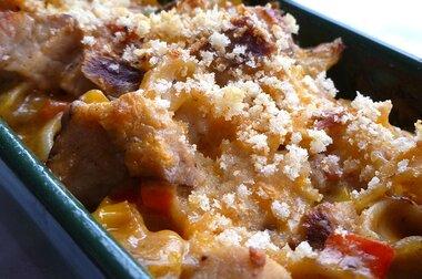 yummy pork noodle casserole recipe