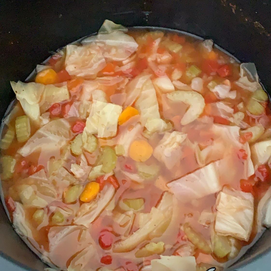 Instant Pot® Vegan Cabbage Detox Soup