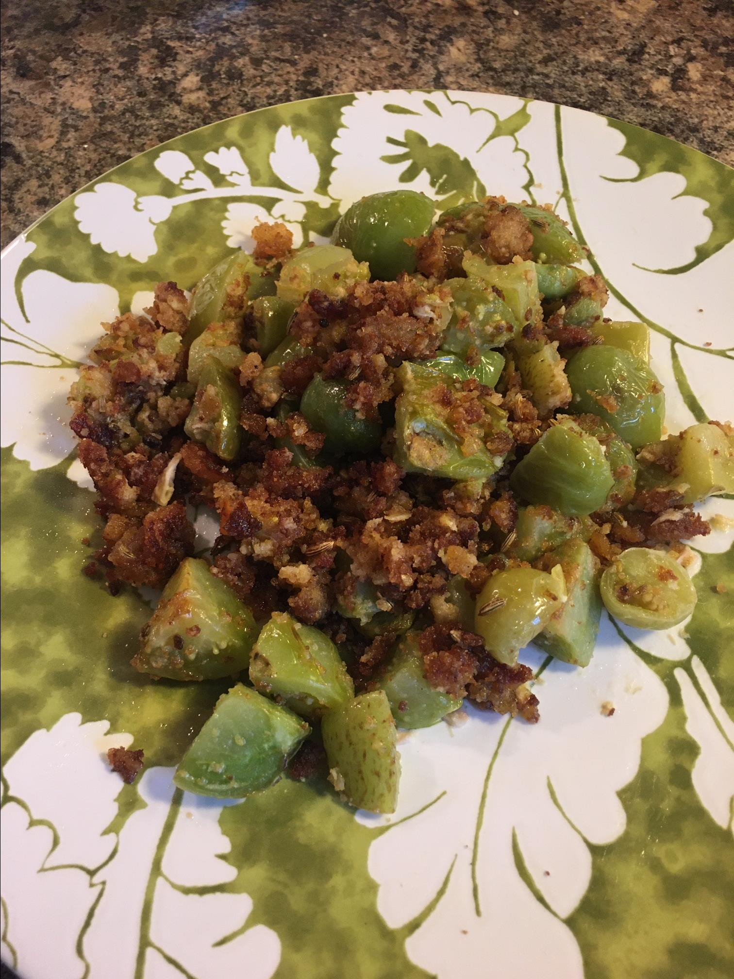 Fried Green Tomatoes without Cornmeal