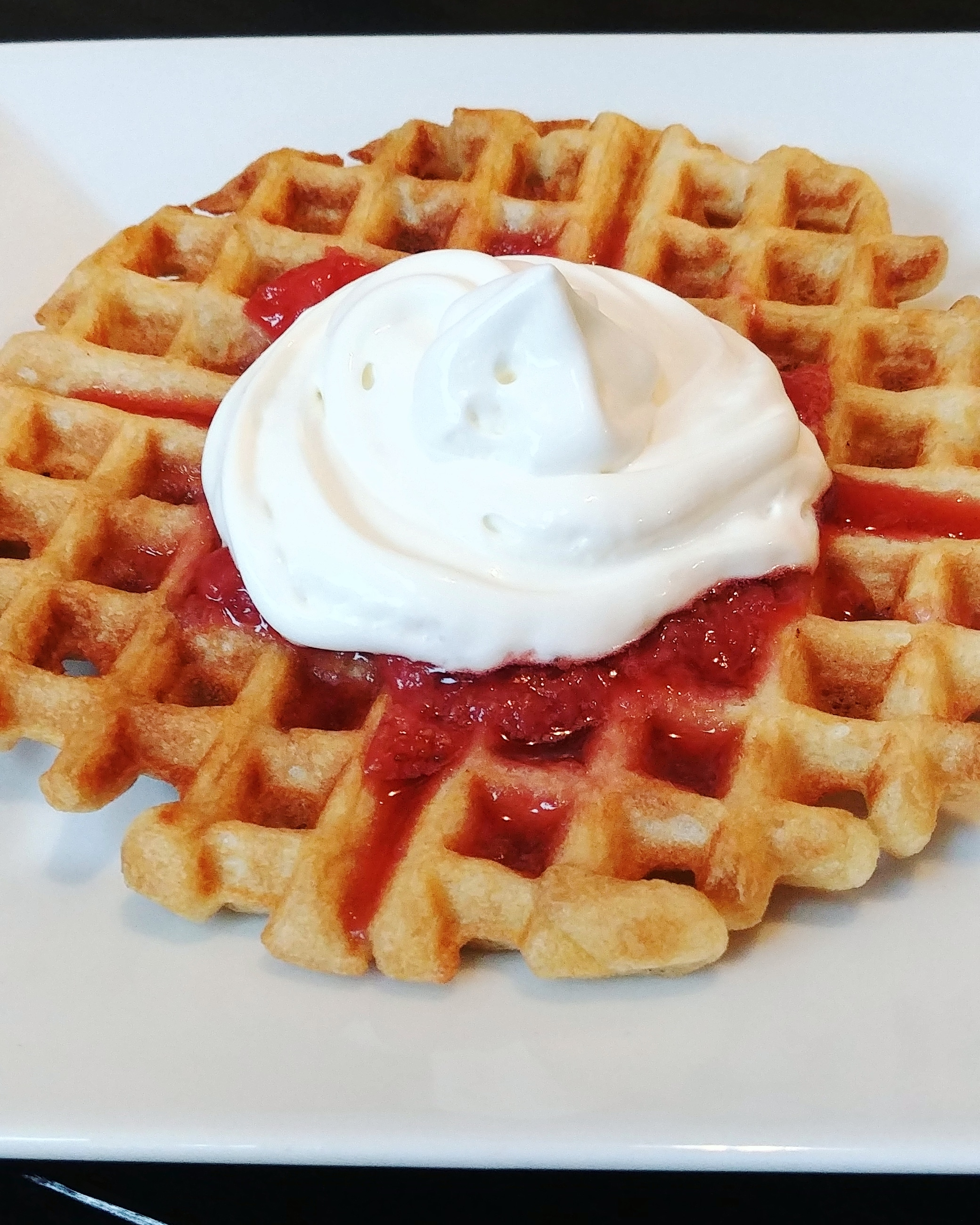 Funnel Cake Waffles