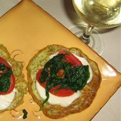 Zucchini Fritters with Fresh Mozzarella and Tomato Erica