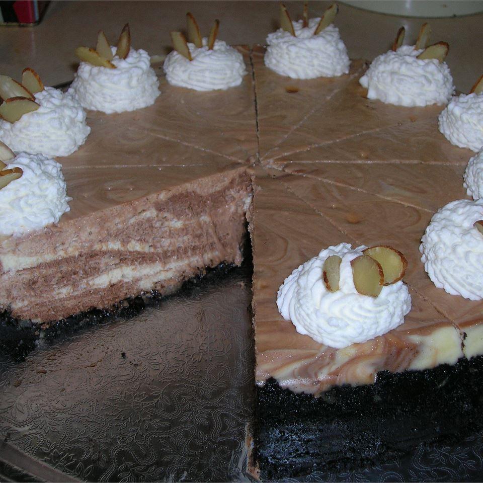 Chocolate Almond Marble Cheesecake