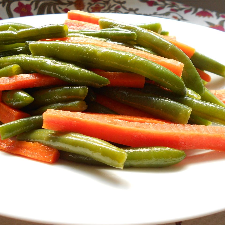 Honey Glazed Pea Pods and Carrots