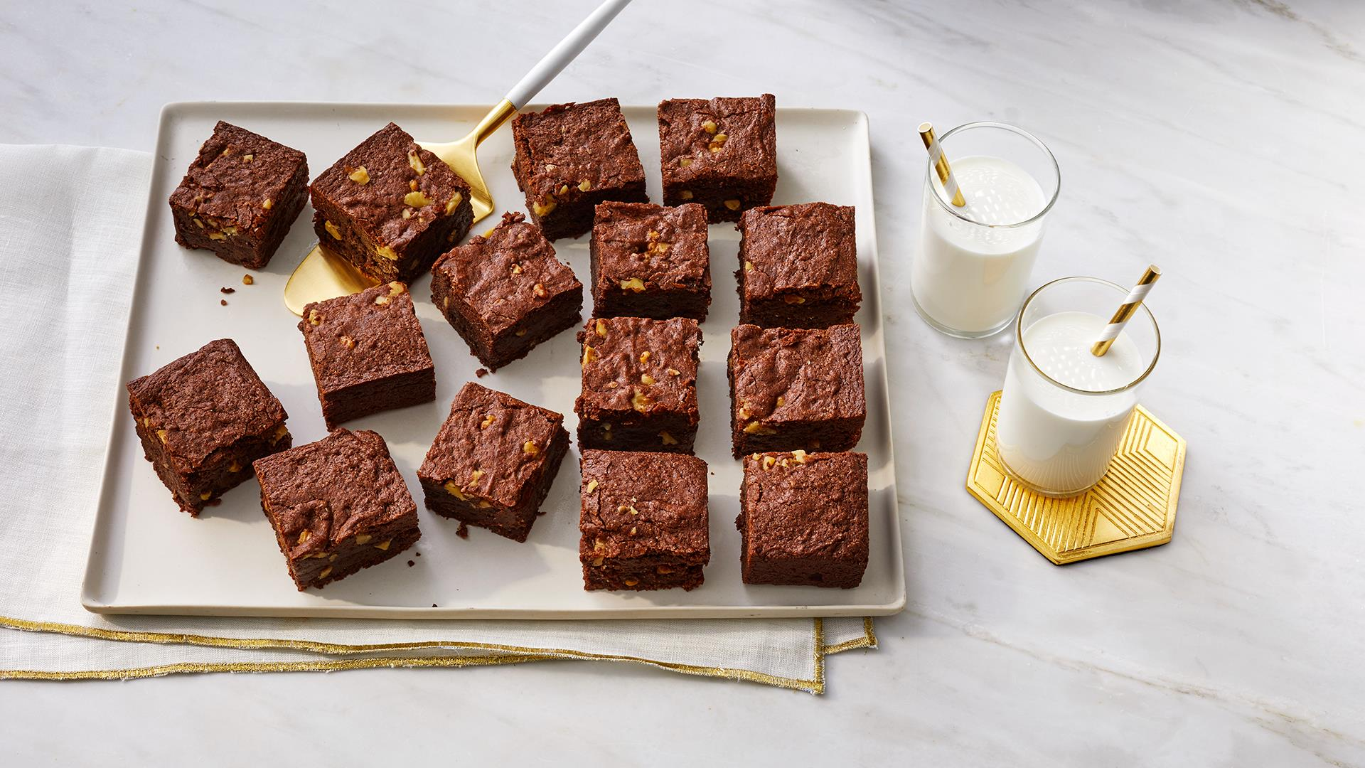 Ghirardelli One-Bowl Flourless Brownies