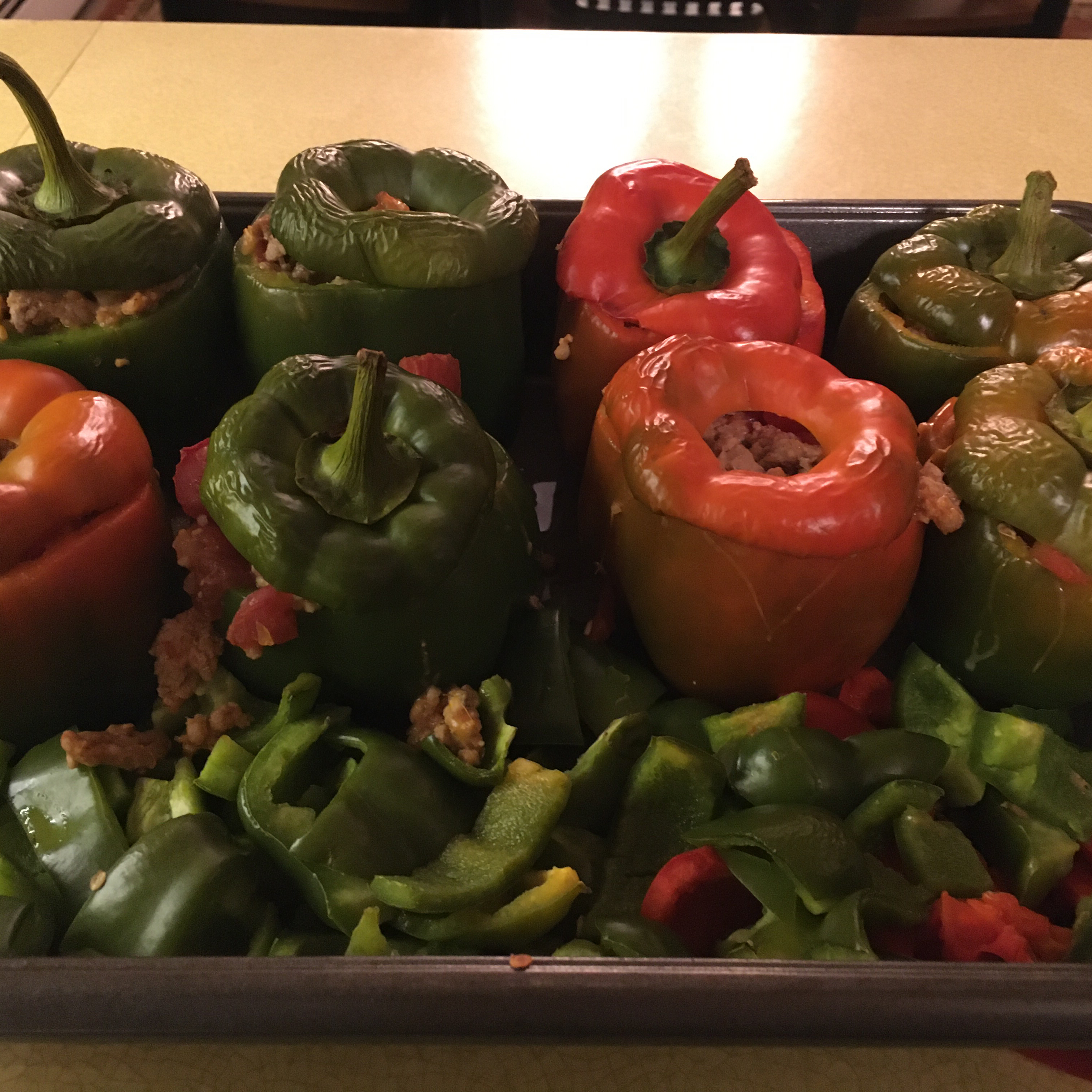 Simple and Easy Stuffed Peppers