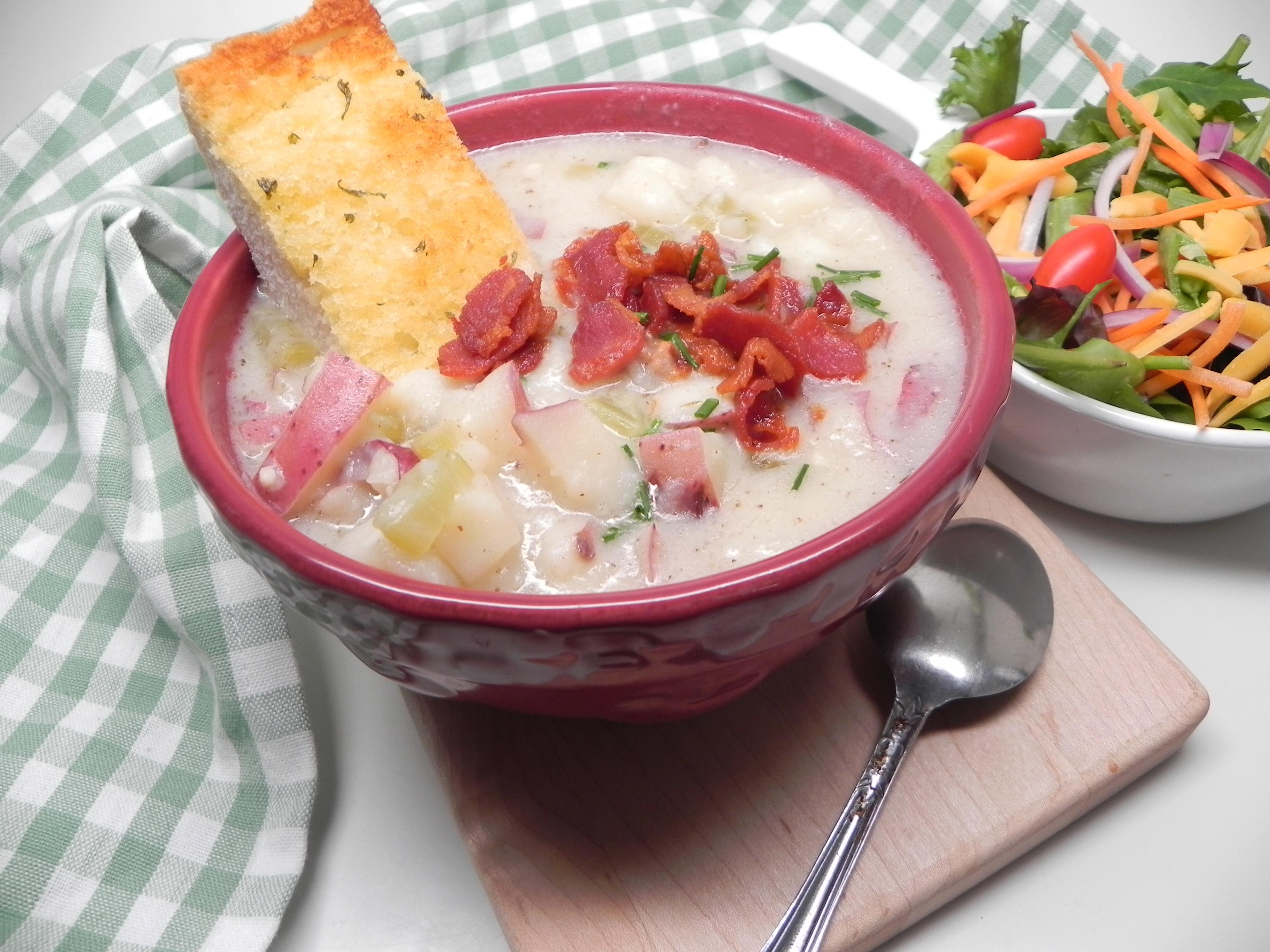 Instant Pot® Potato and Bacon Soup Soup Loving Nicole