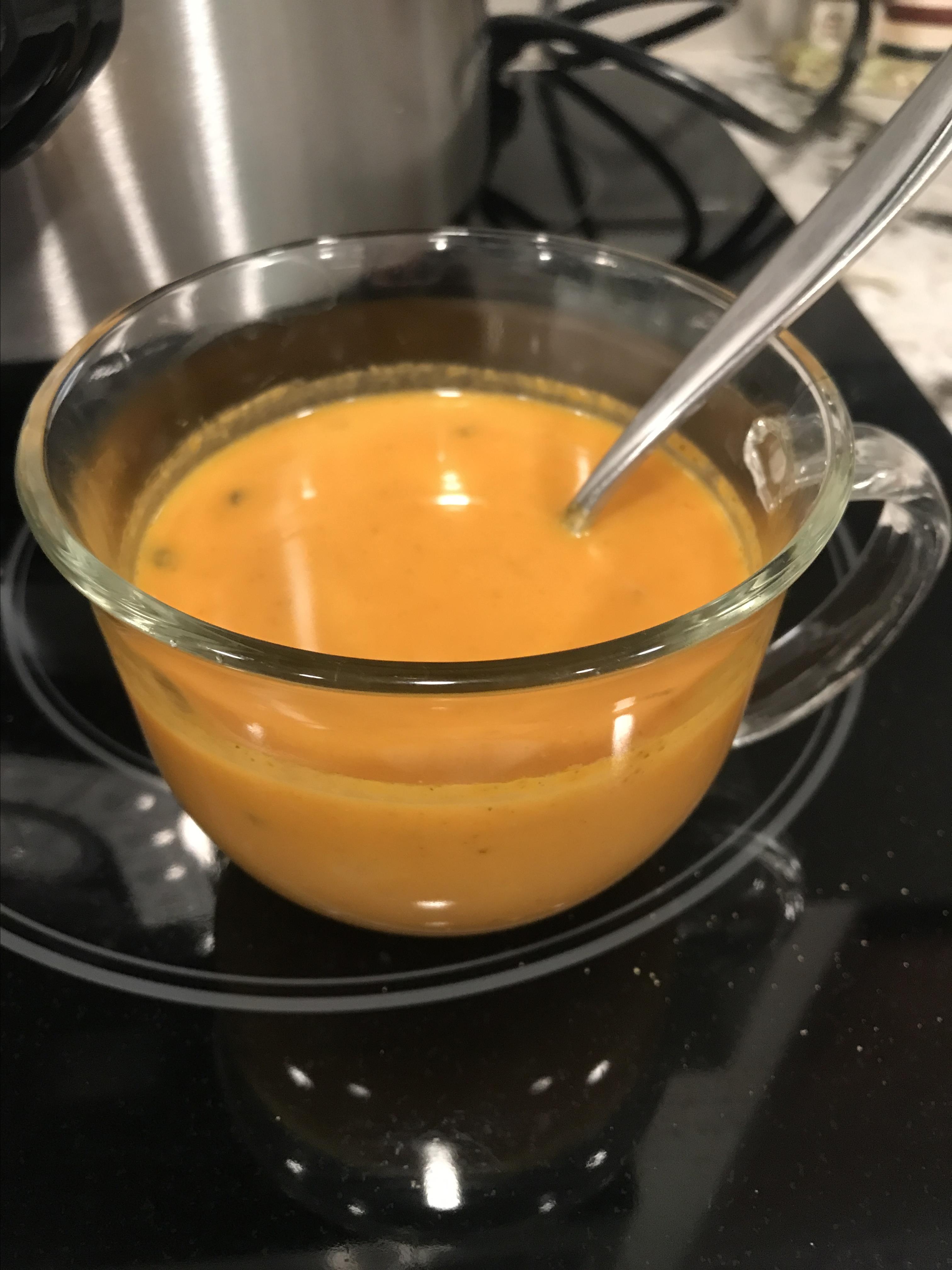 Instant Pot® Keto Pumpkin Soup with Sausage Sherri