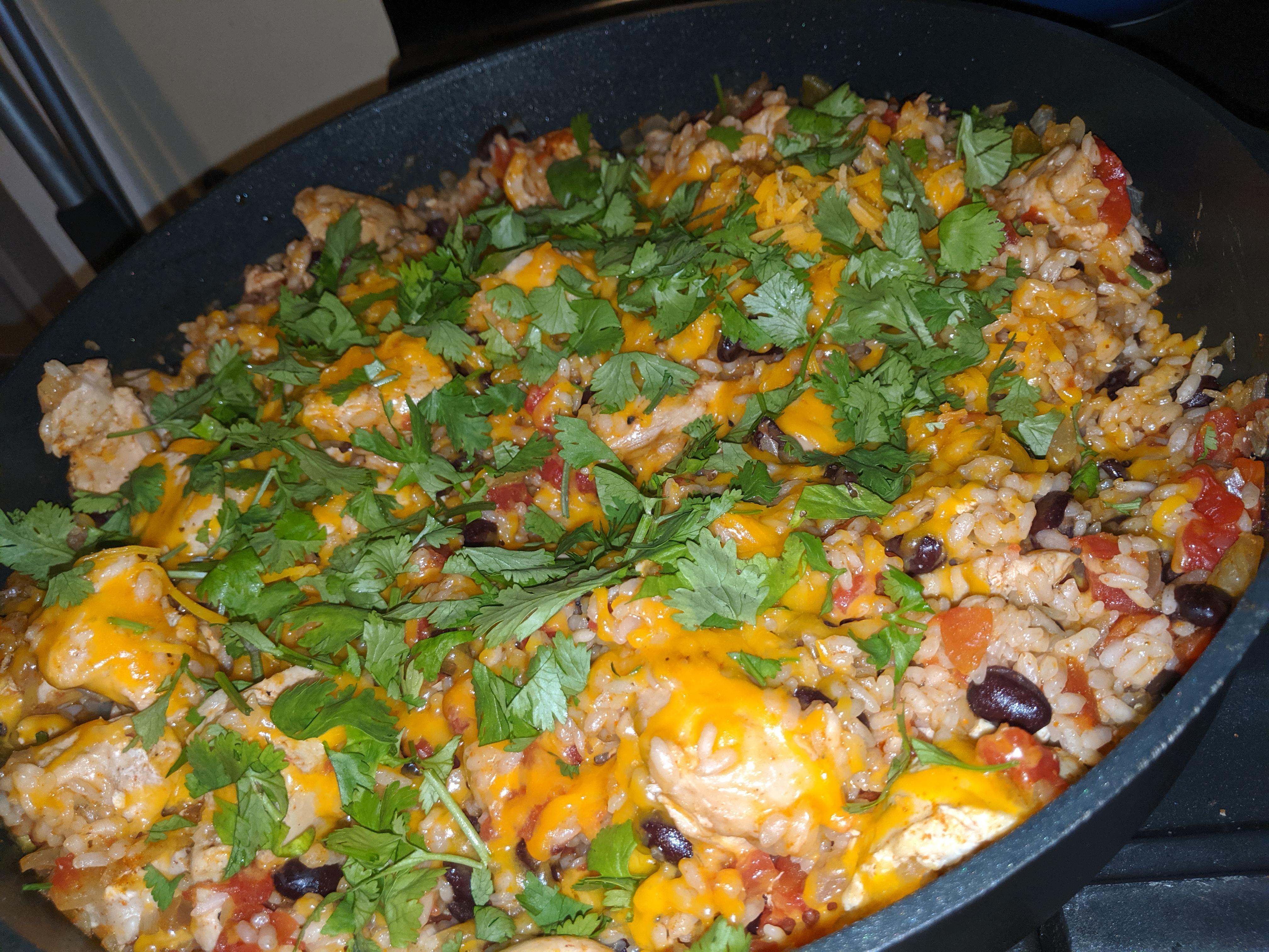 Chicken Burrito Skillet