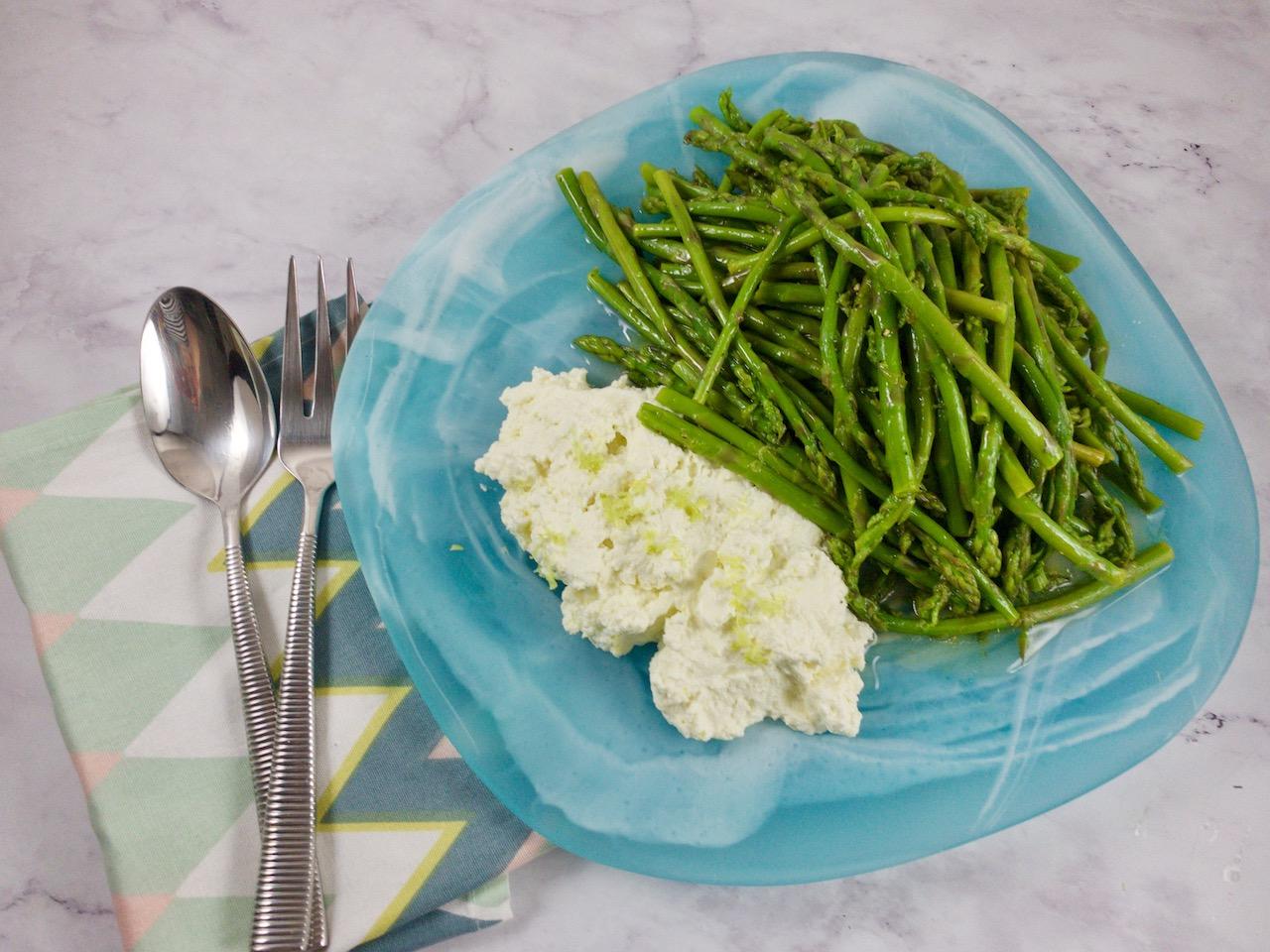 Asparagus with Lemon Ricotta