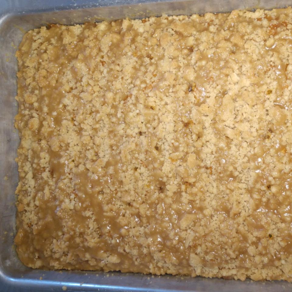 Pumpkin Coffee Cake with a Brown Sugar Glaze beachy4