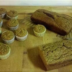Pumpkin-Banana-Applesauce Bread