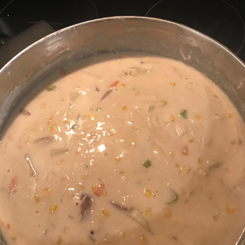 Easy Chicken and Corn Chowder