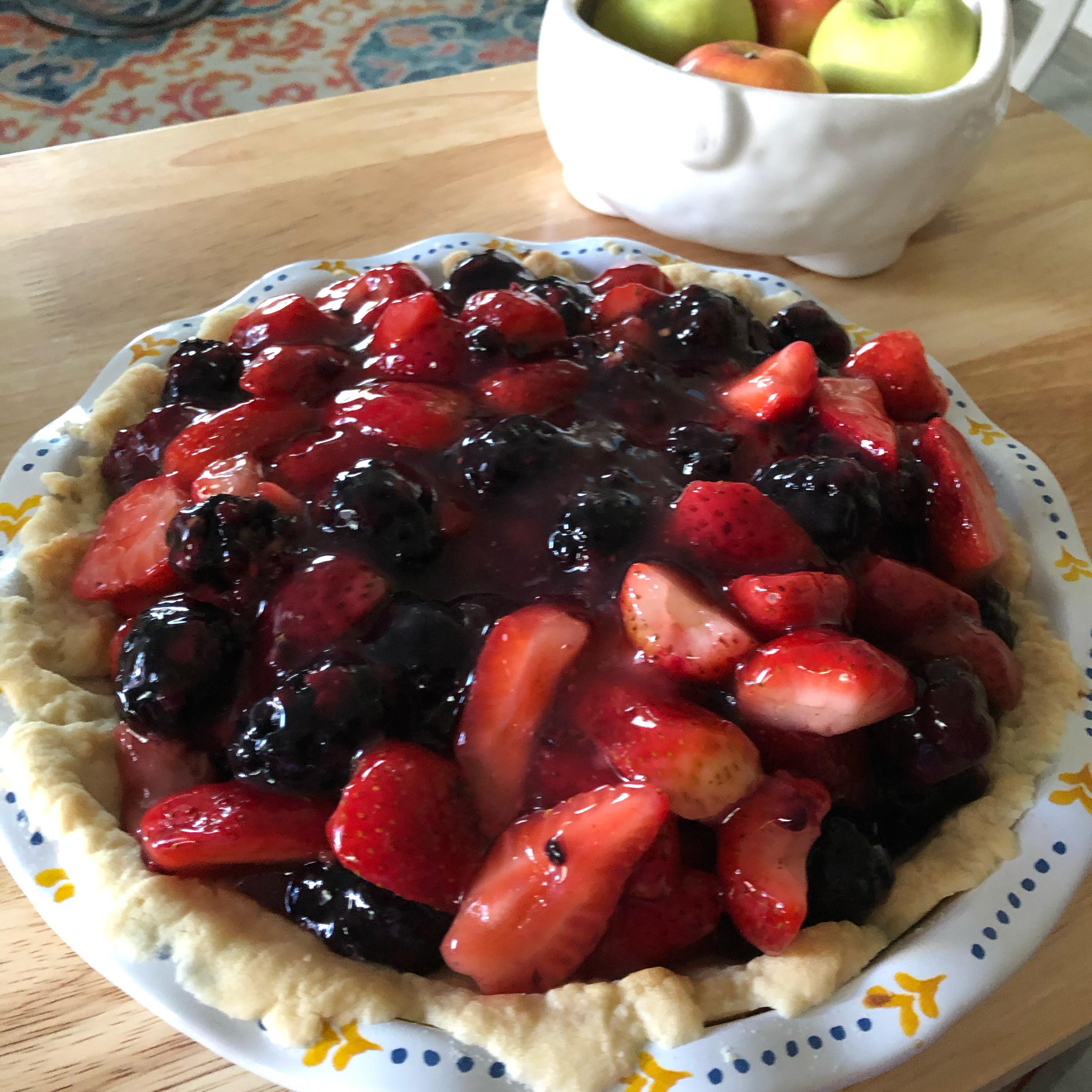 Fresh No-Bake Fruit Pie Elsa Sand