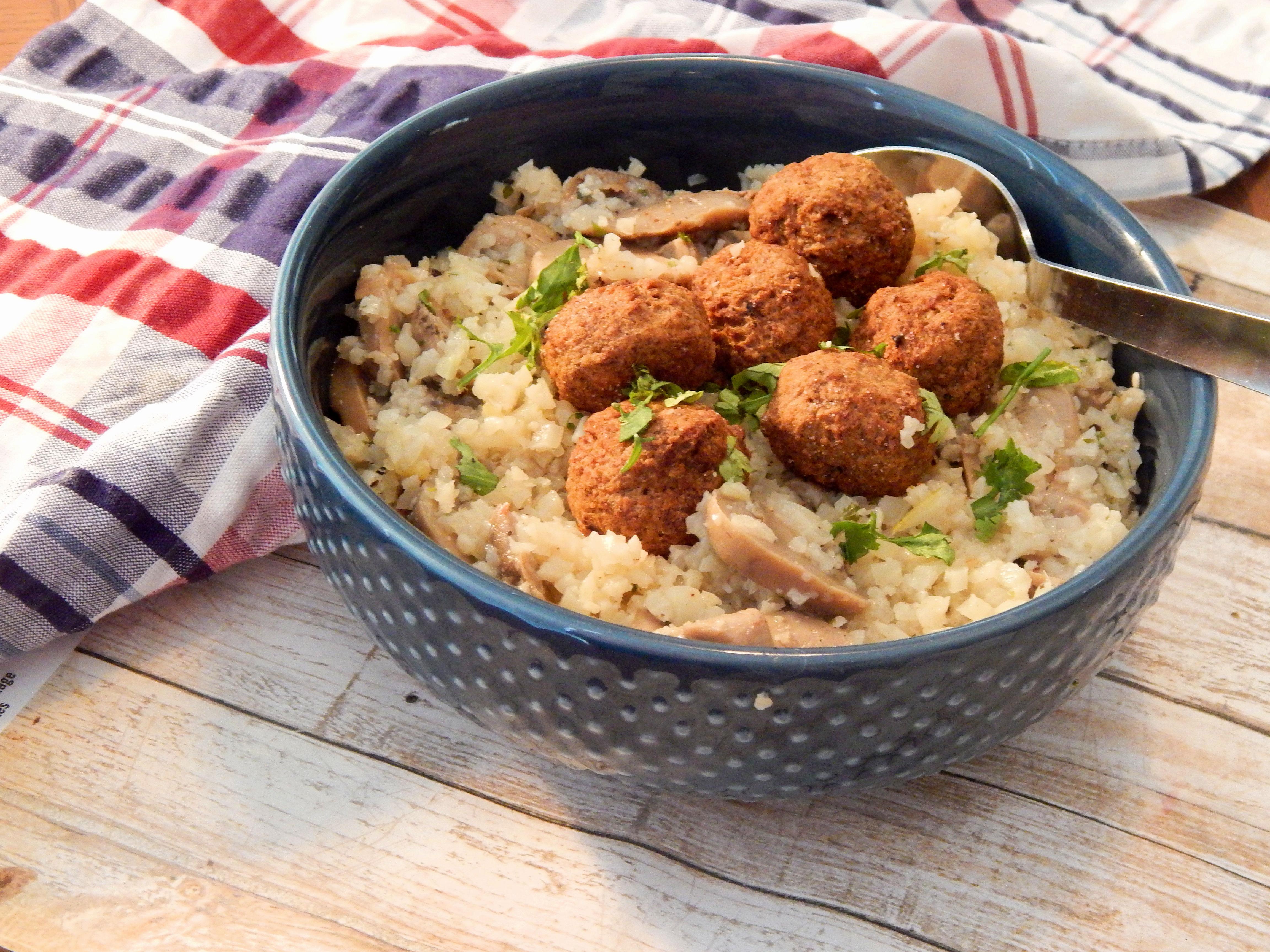 Cauliflower Rice Stroganoff
