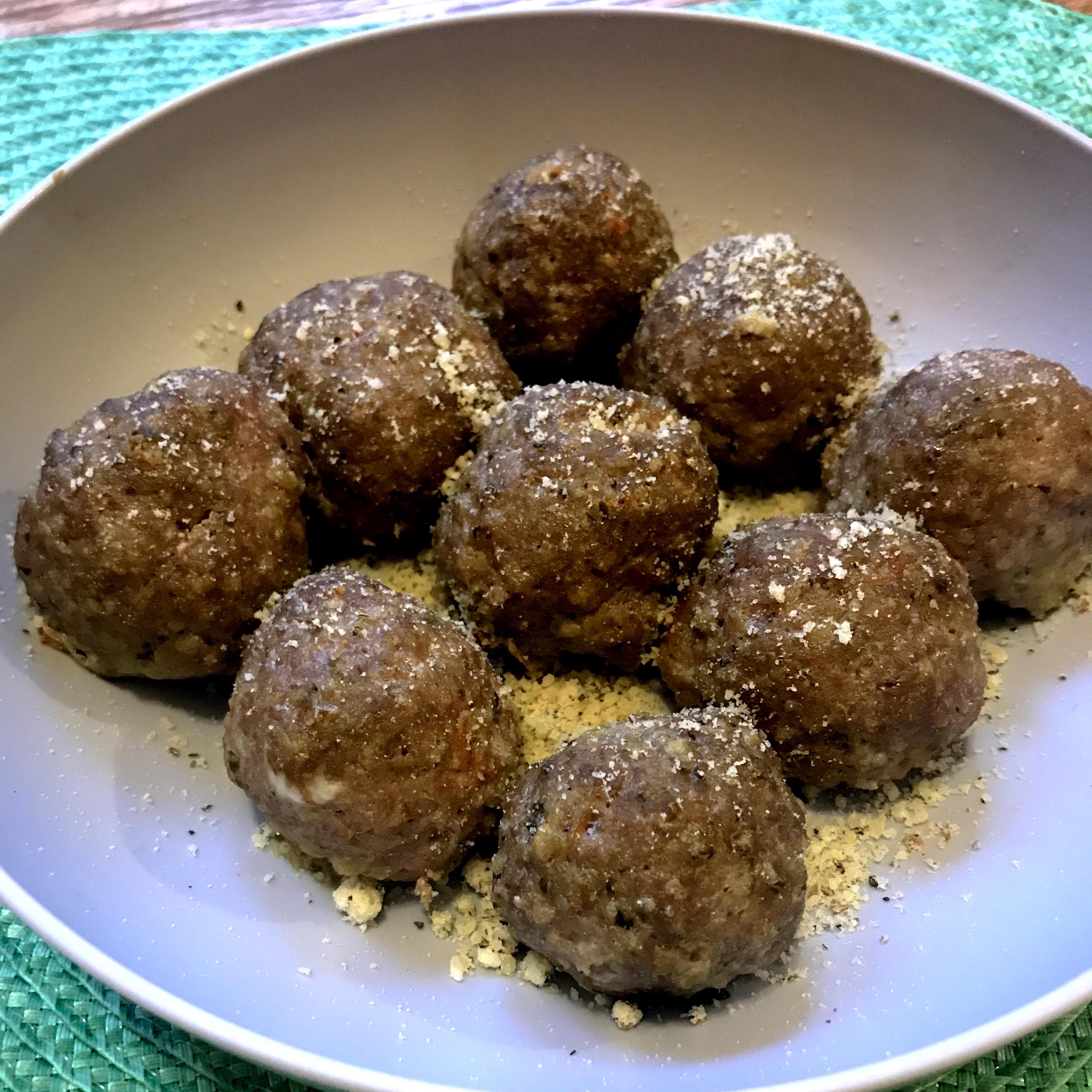 Pesto Turkey Meatballs MommaBean3