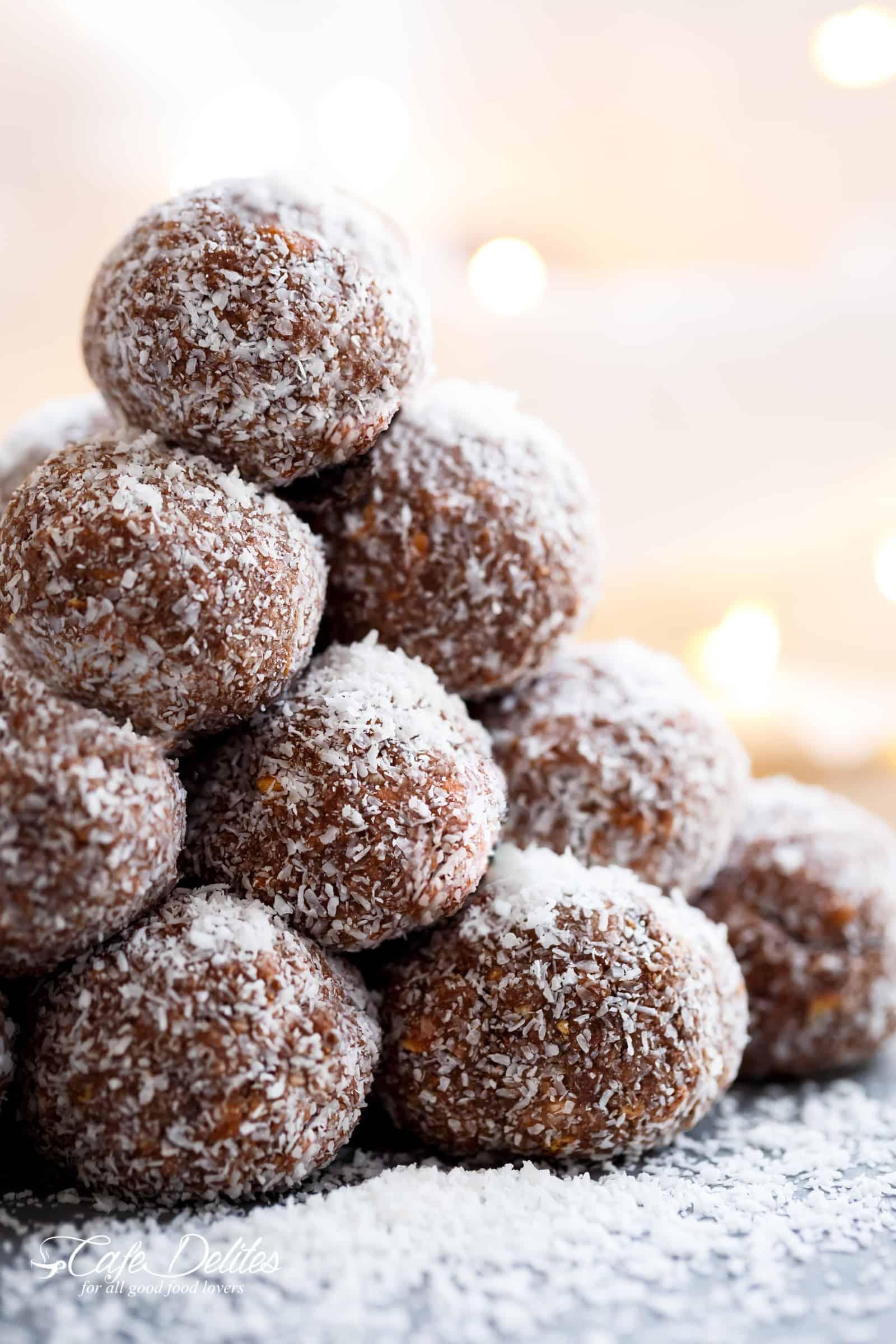 Coconut-Coated Chocolate Rum Balls shacala