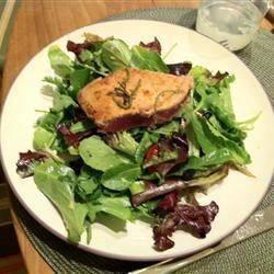 Seared Ahi Tuna with Watercress, Chile, and Ginger Salad Iti Palu