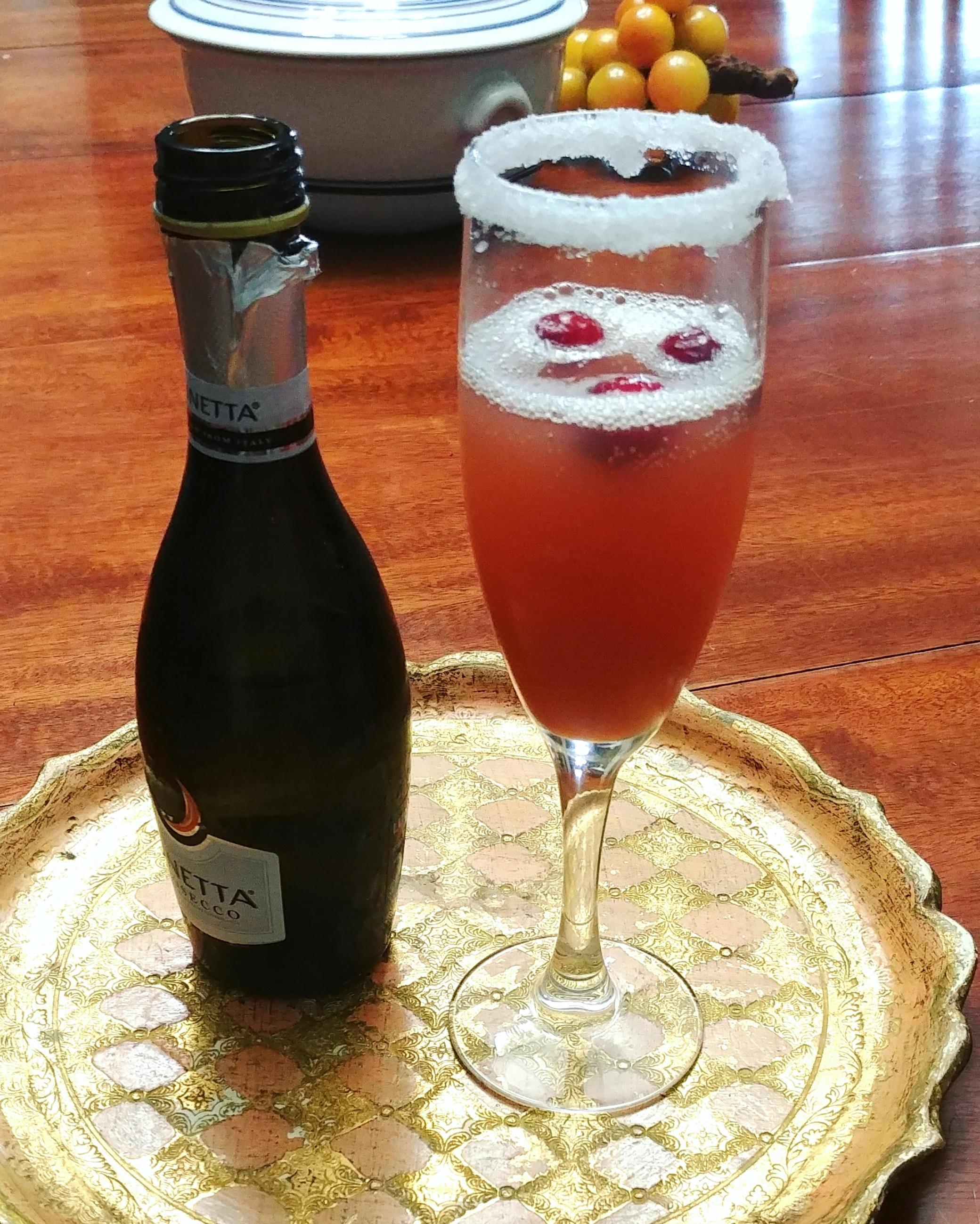 Cranberry-Pomegranate Mimosa