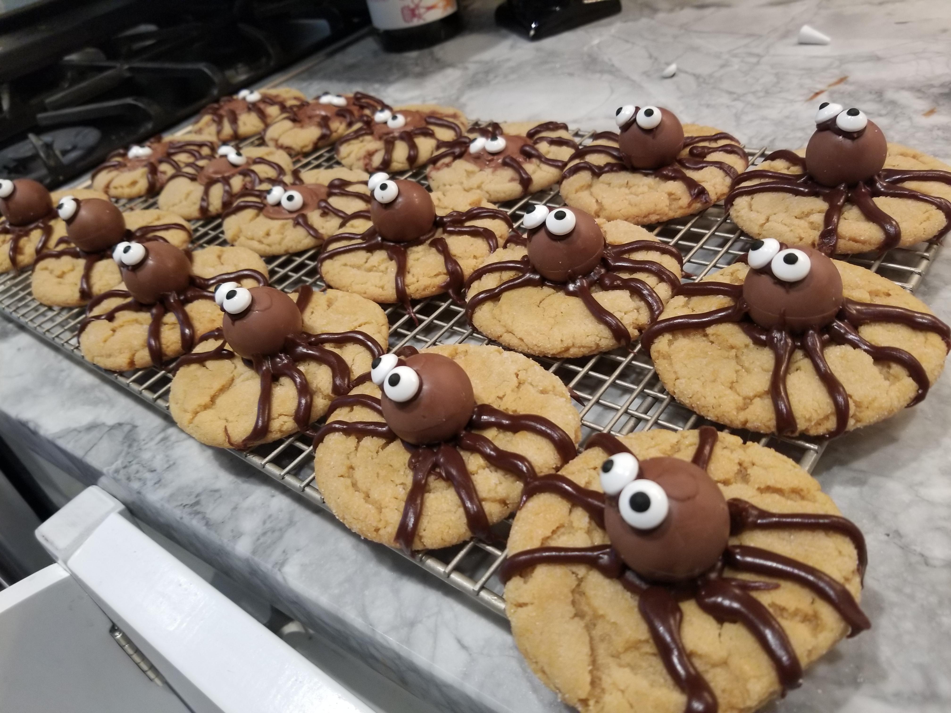 Peanut Butter Spider Cookies Monica