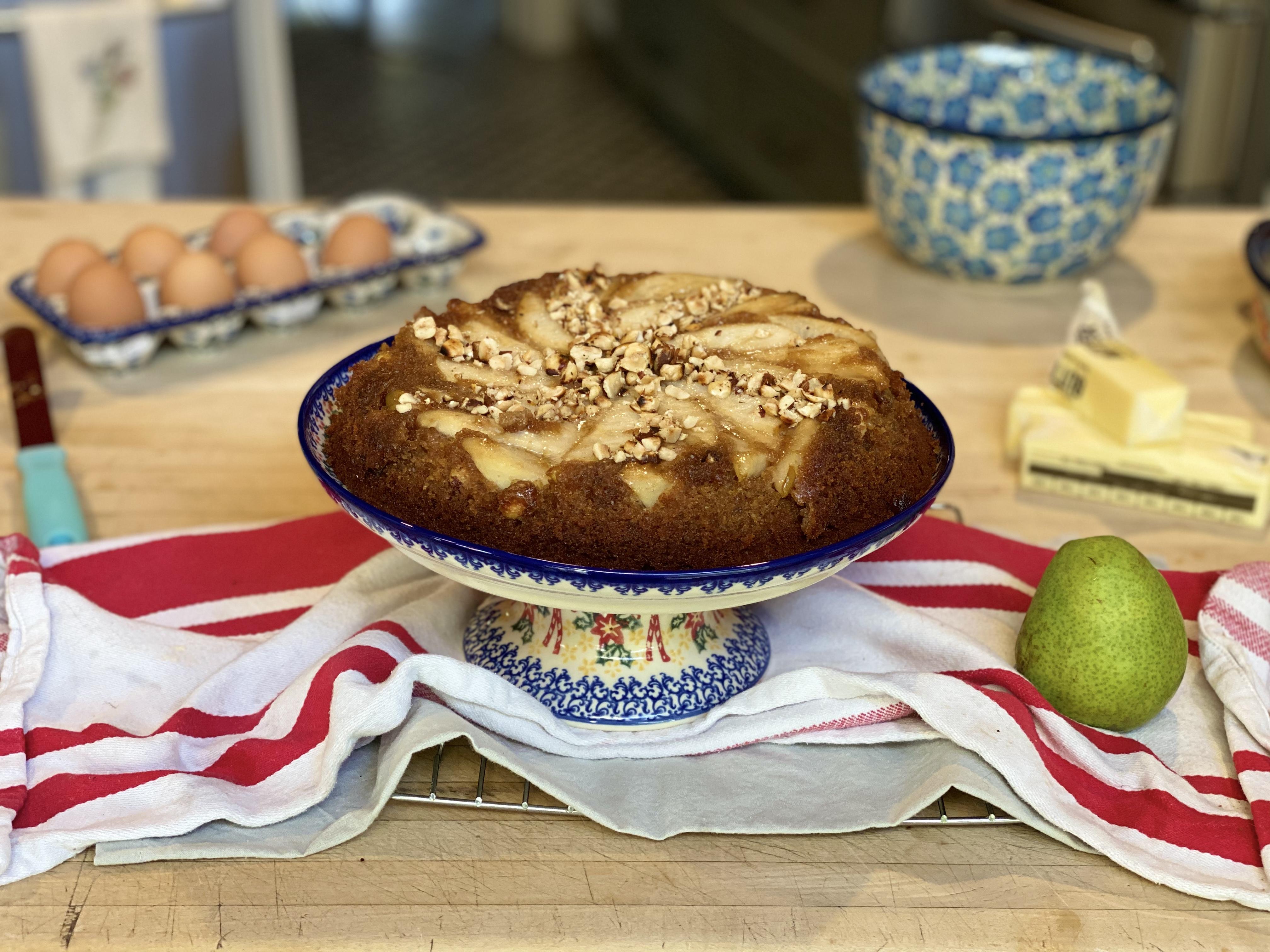 Pear Upside-Down Graham Cake Twila Abrams