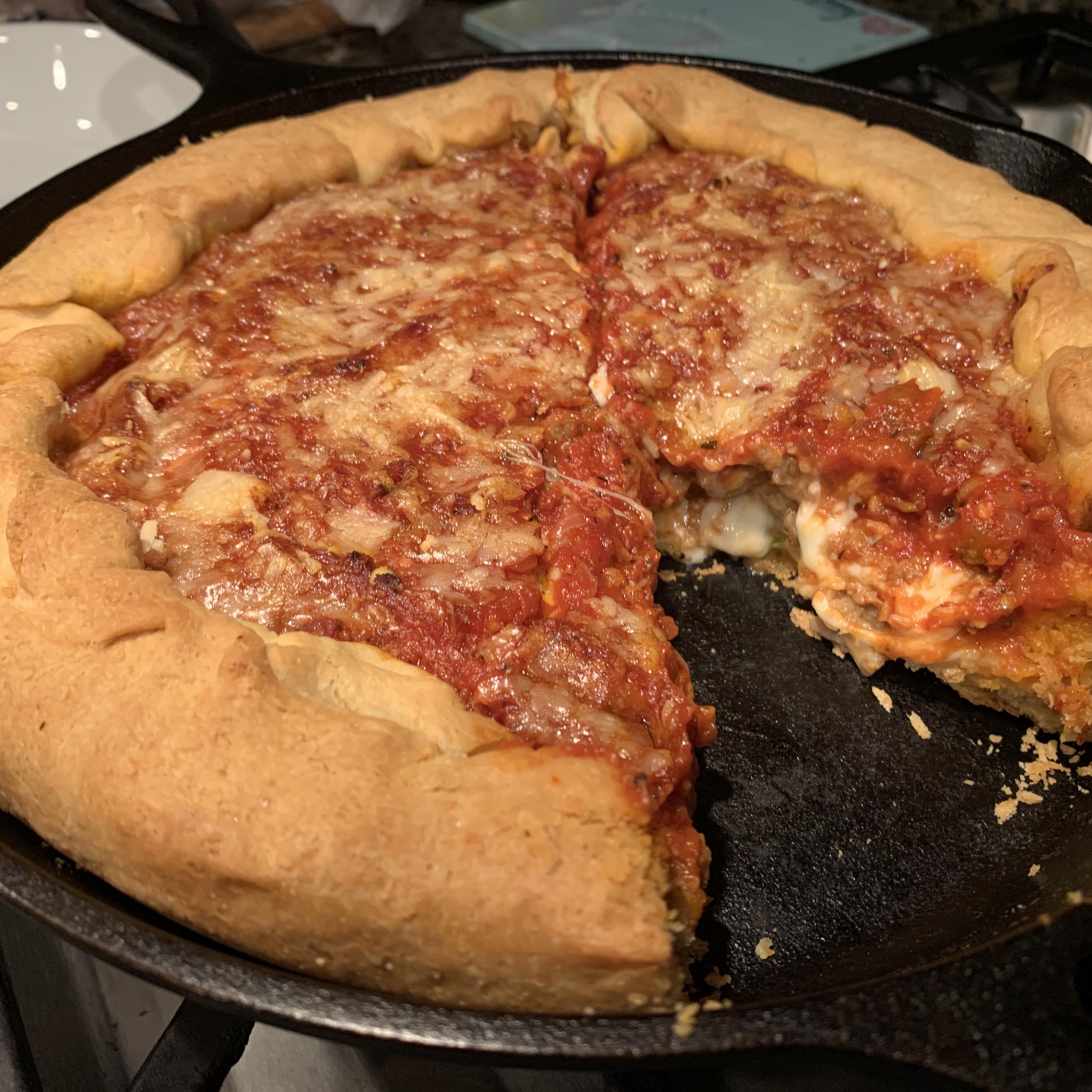 Chicago Deep-Dish Pizza Erica S