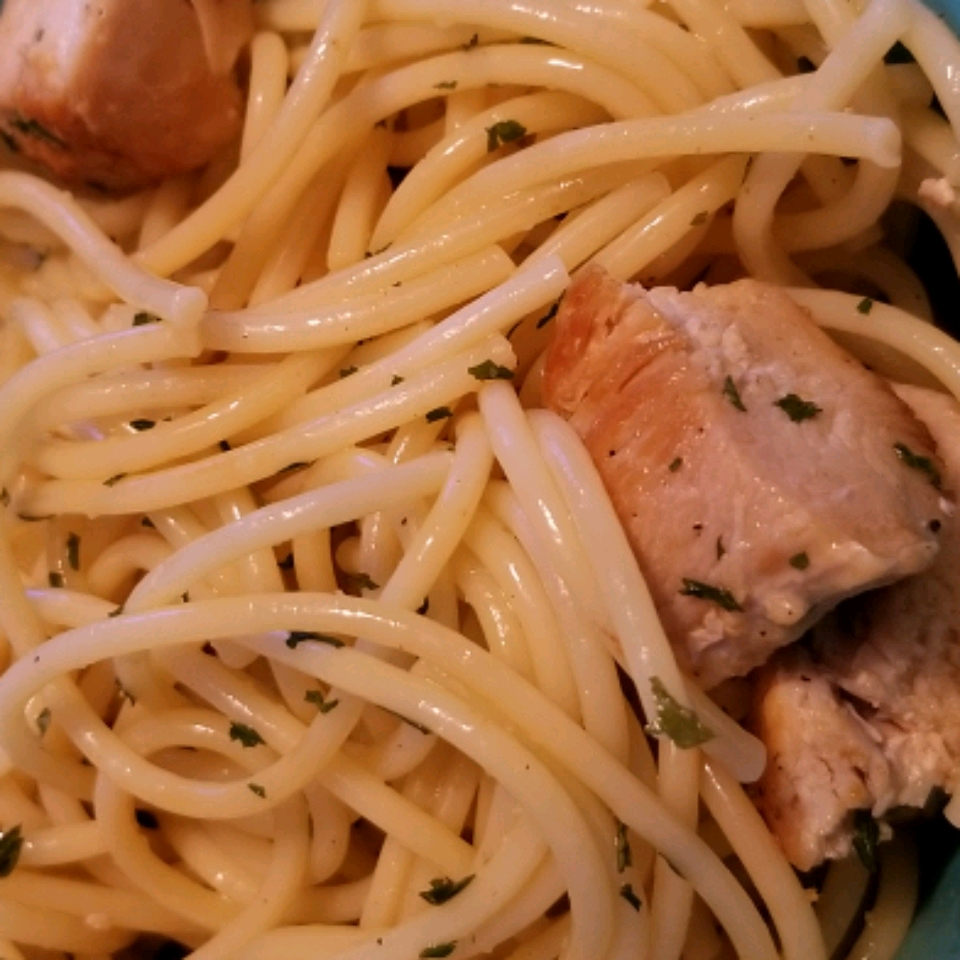 Angel Hair Pasta with Lemon and Chicken (Lighter)