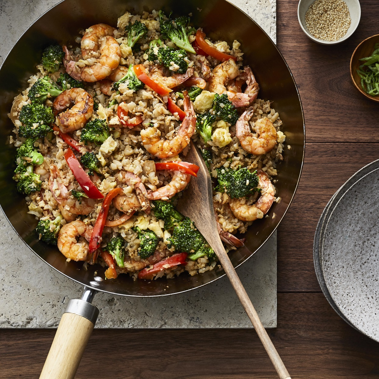 Shrimp Cauliflower Fried Rice Recipe Eatingwell