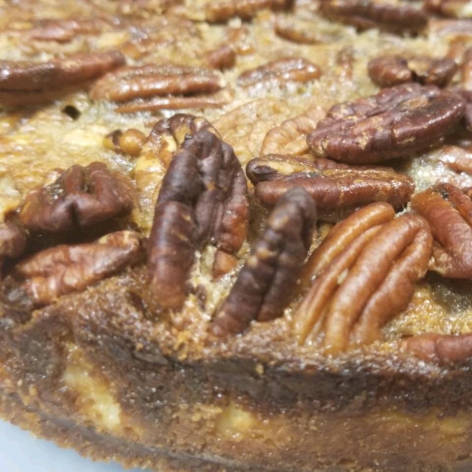 2-Layer Rum Pecan Pie with Cheesecake Yarden Bracero