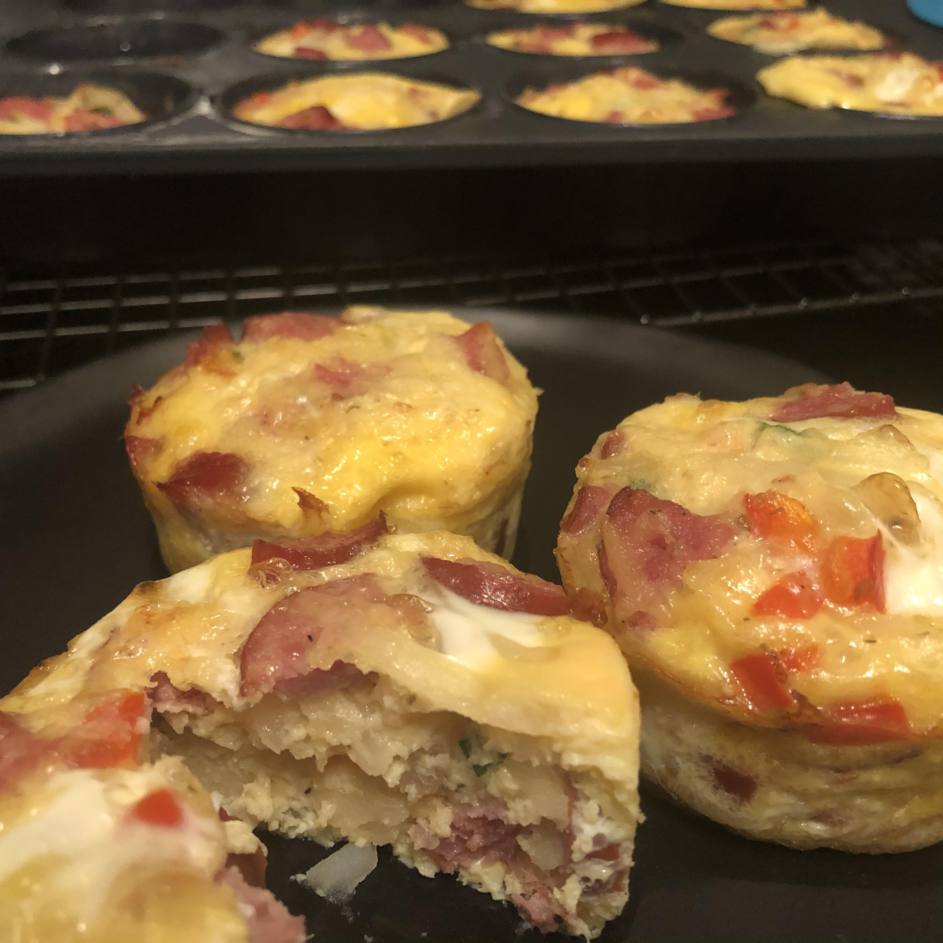Mini Frittatas with Hillshire Farm® Smoked Sausage and Potato karachromatic