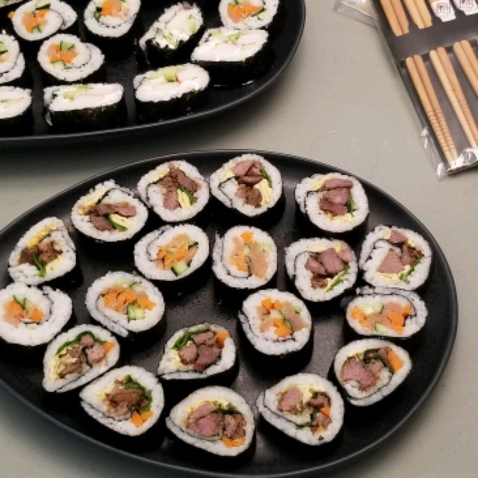 Korean Sushi sassyangelkiwi Donna-Maree Aus