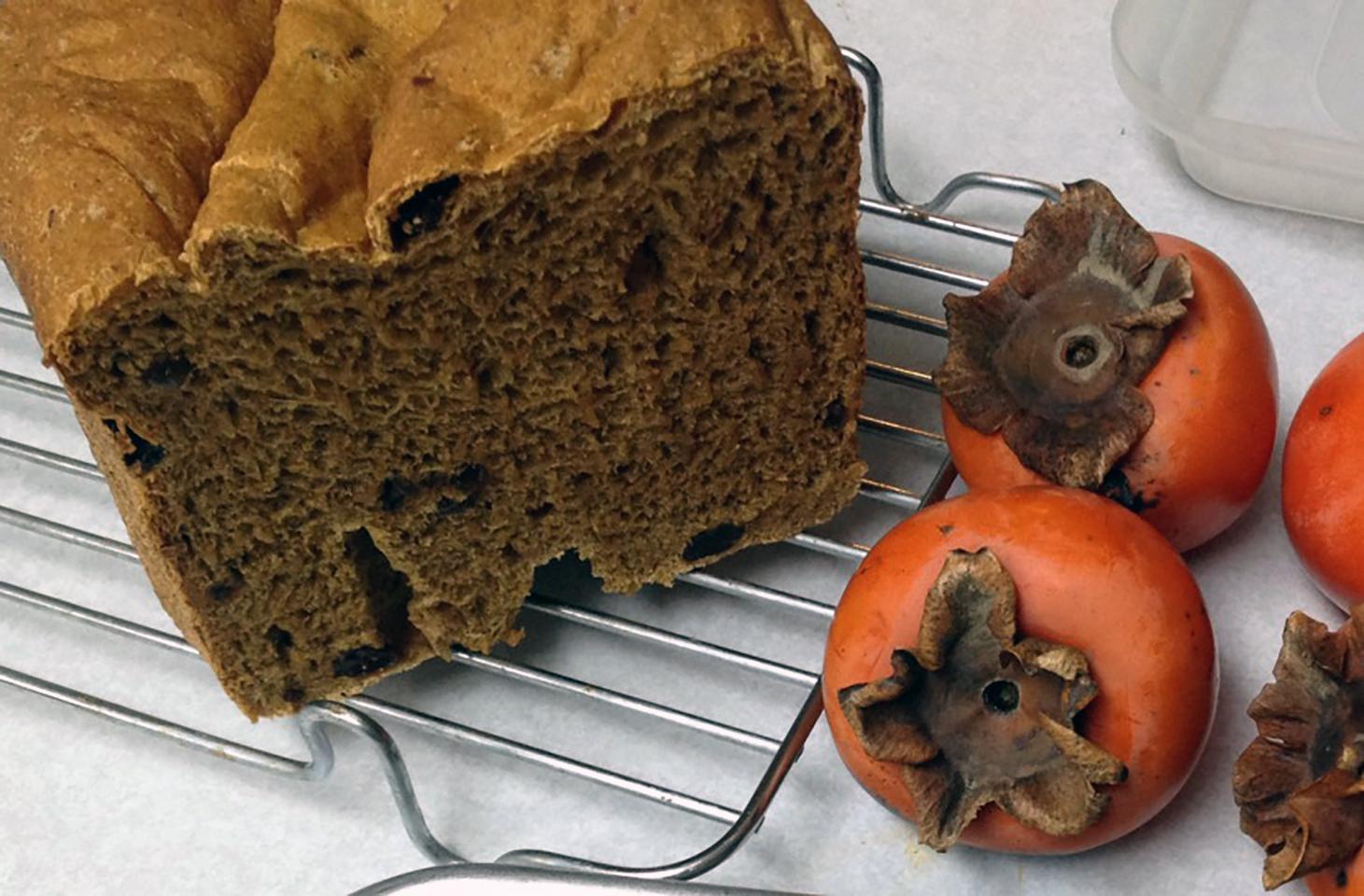 Persimmon Raisin Yeast Bread
