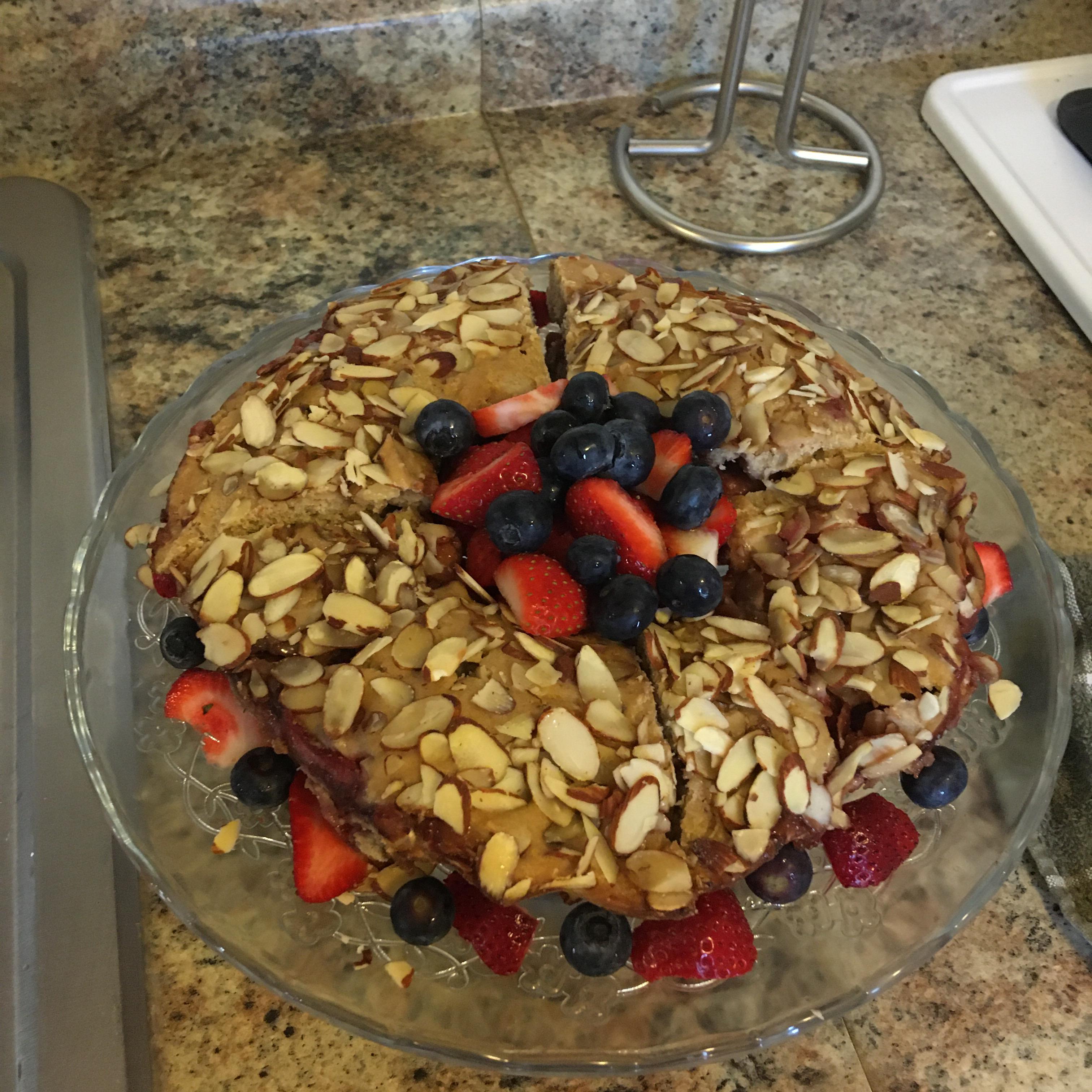 Delicious Strawberry Almond Coffee Cake - A Guilt Free Indulgence! Elizabeth Do Carmo